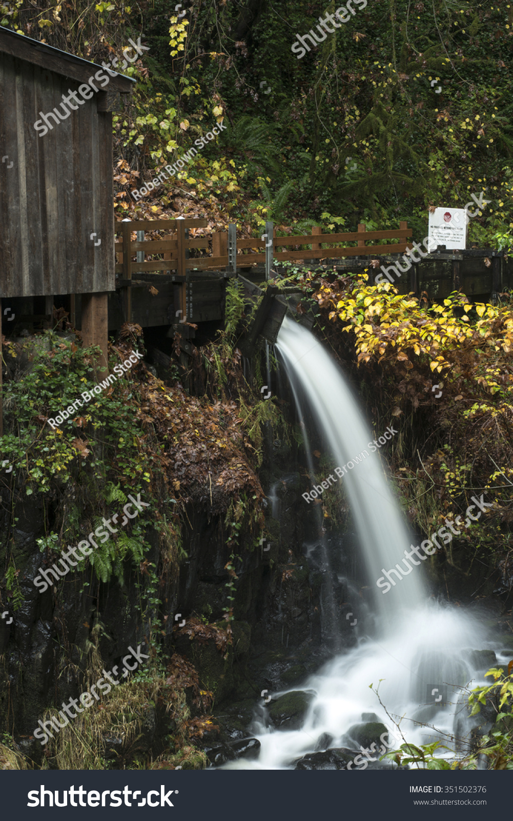 Autumn view cedar creek grist mill stock photo 351502376 for The cedar mill