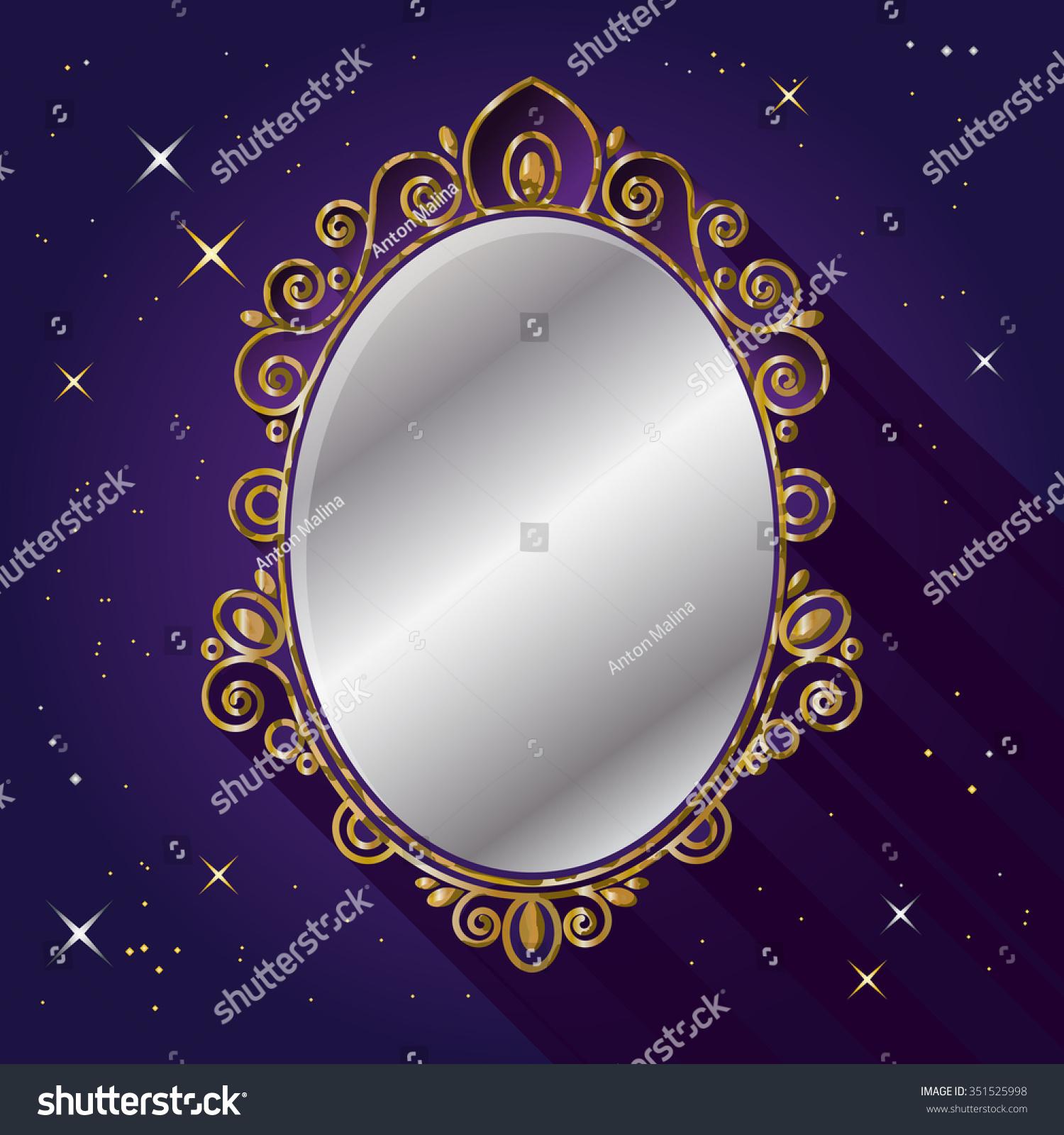 Magic Mirror Snow White Fairy Tale Stock-Vektorgrafik (Lizenzfrei ...