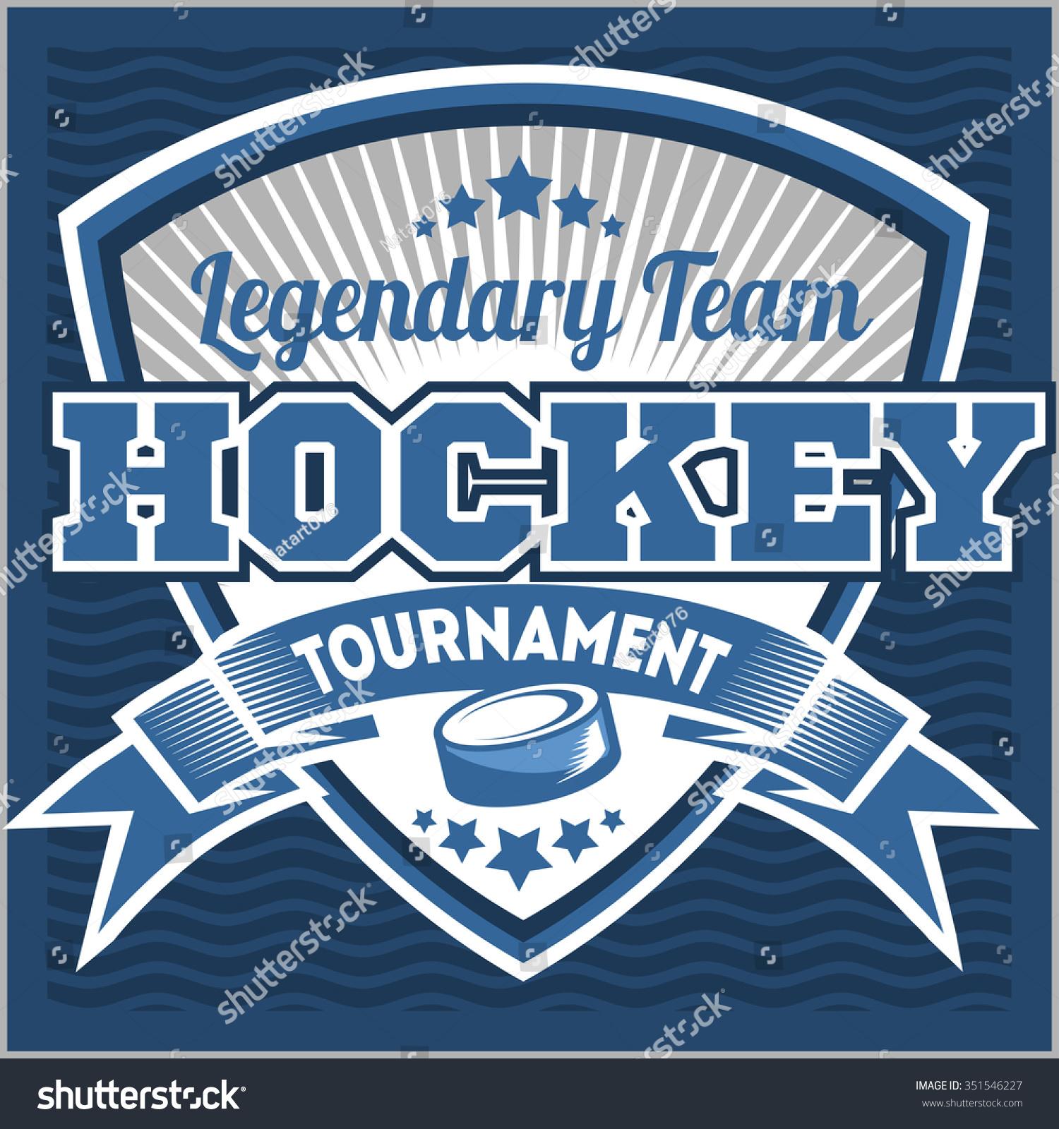 Hockey Sport Team Logotype Template. Hockey Team Logo Template ...