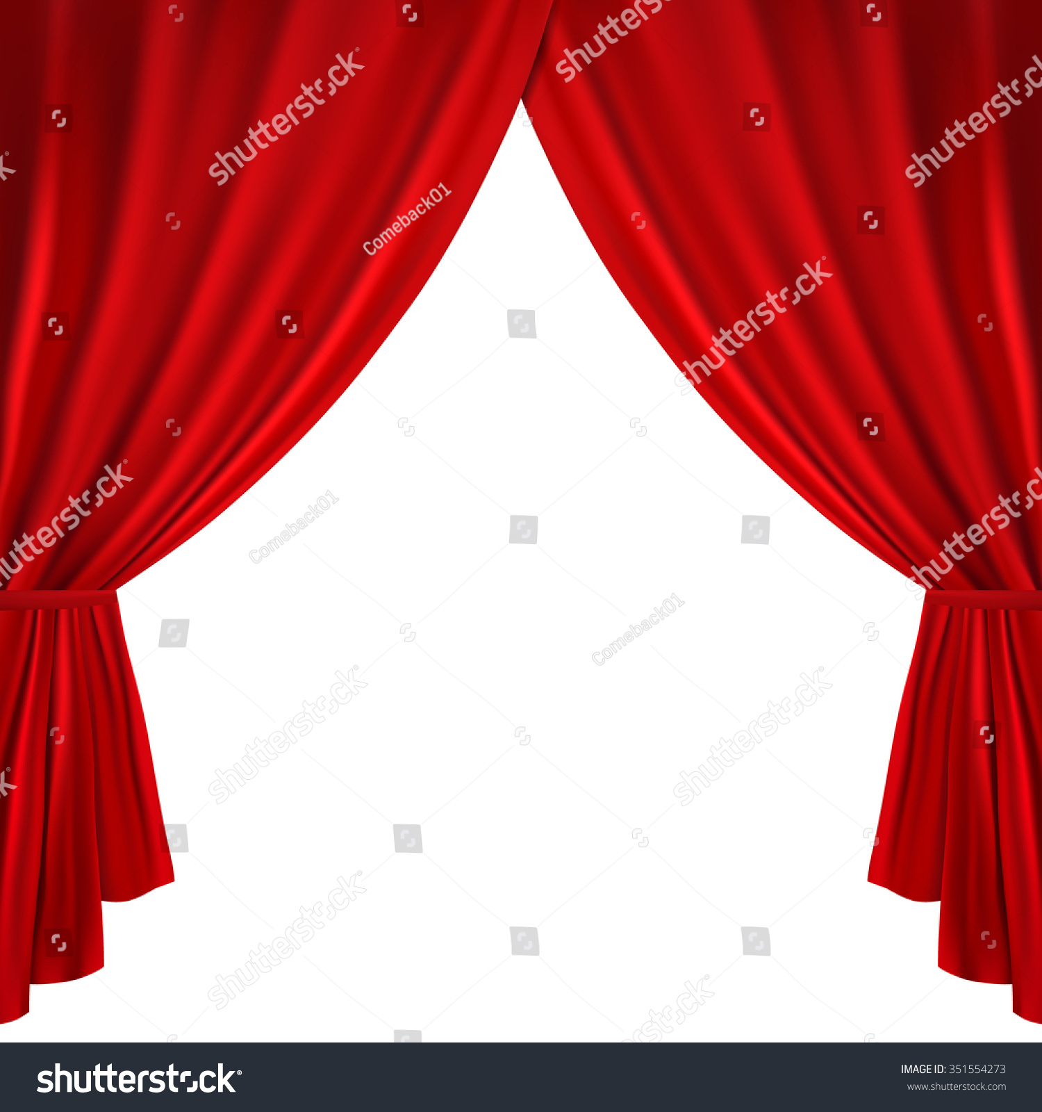 Red stage curtain with lights - Stage Curtains Background Red Theater Curtain On A White Background