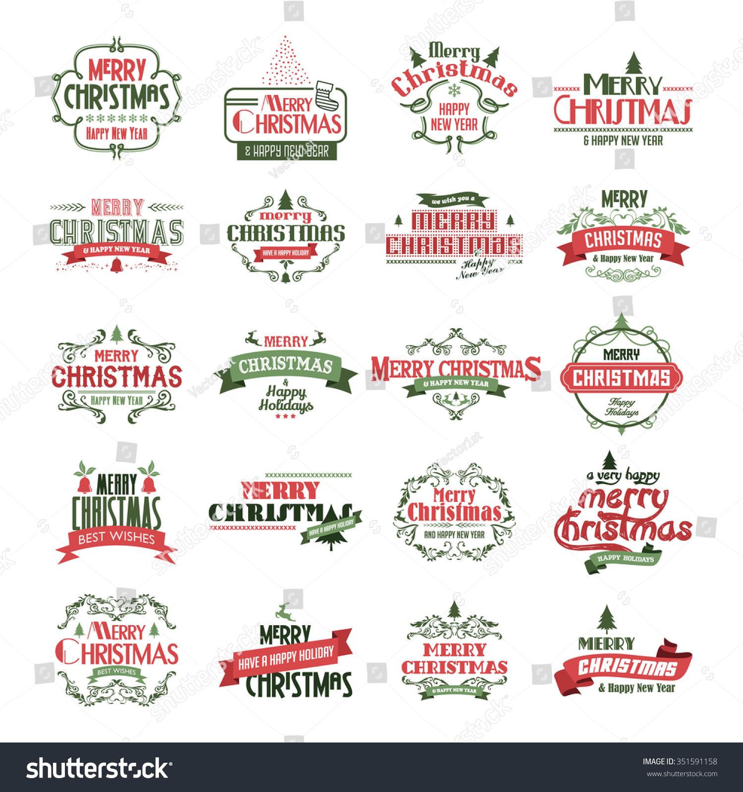 merry christmas label christmas badge theme stock vector 351591158