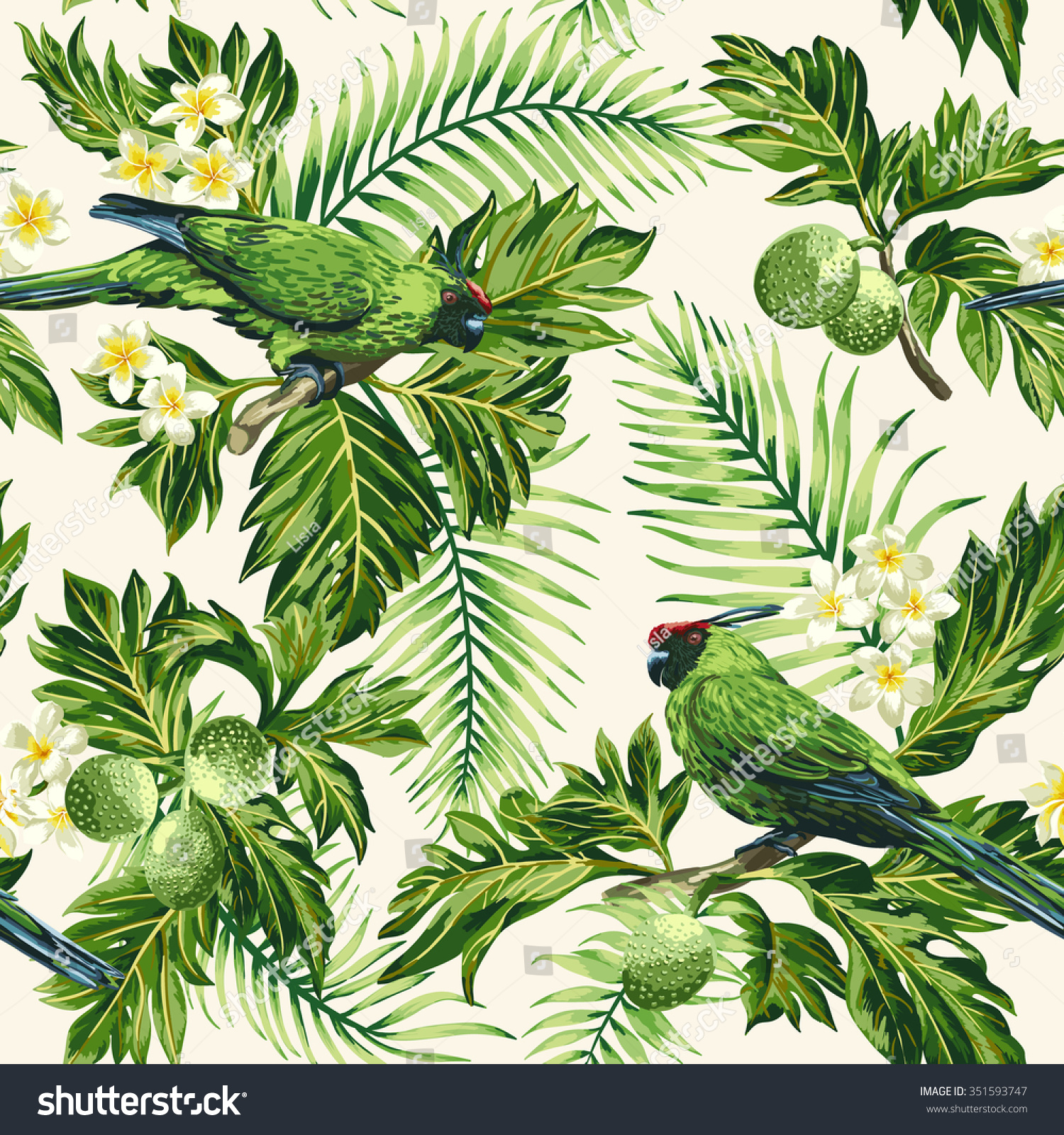 wallpaper tropical birds and foliage - photo #7