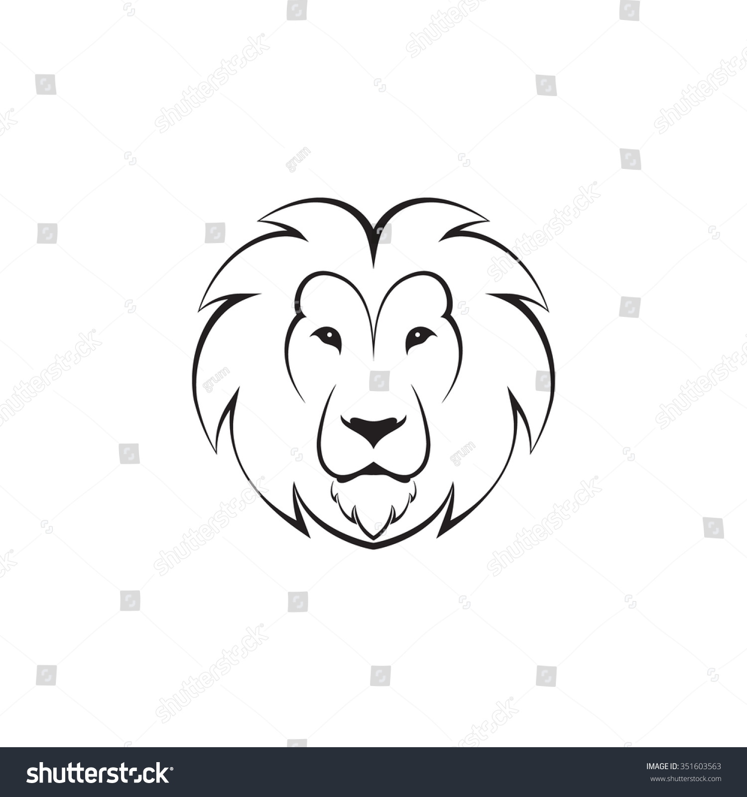 Abstract Round Vector Logo Head Lion Stock Vector Royalty Free 351603563 Realistic tutorial line cartoon outline tattoo texture silhouette geometry minimalist. https www shutterstock com image vector abstract round vector logo head lion 351603563