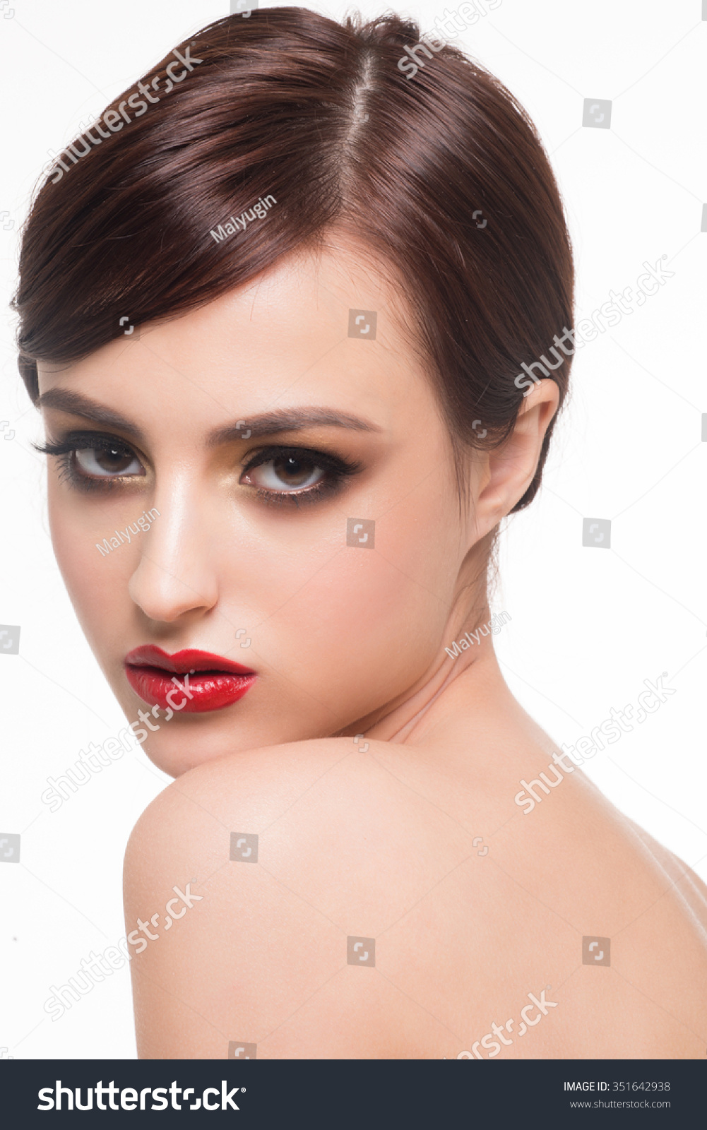 Portrait Young Beautiful Woman Fashion Makeup Stock Photo Edit Now