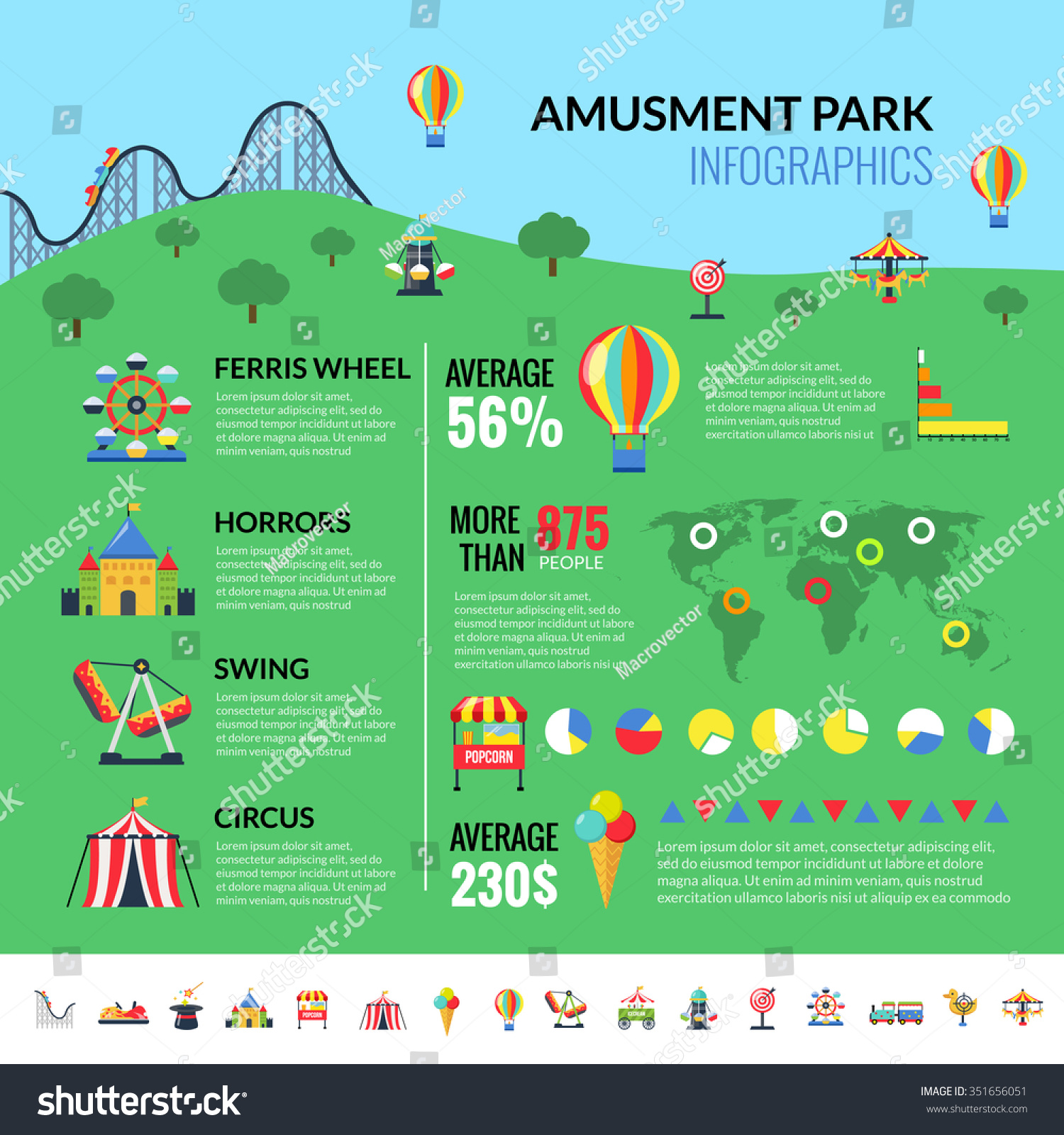 Amusement Park Industry Infographic Report Attractions