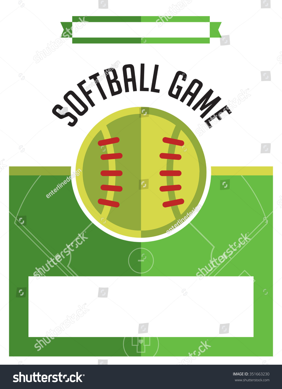 template flyer background softball game vector stock vector a template flyer background for a softball game vector eps 10