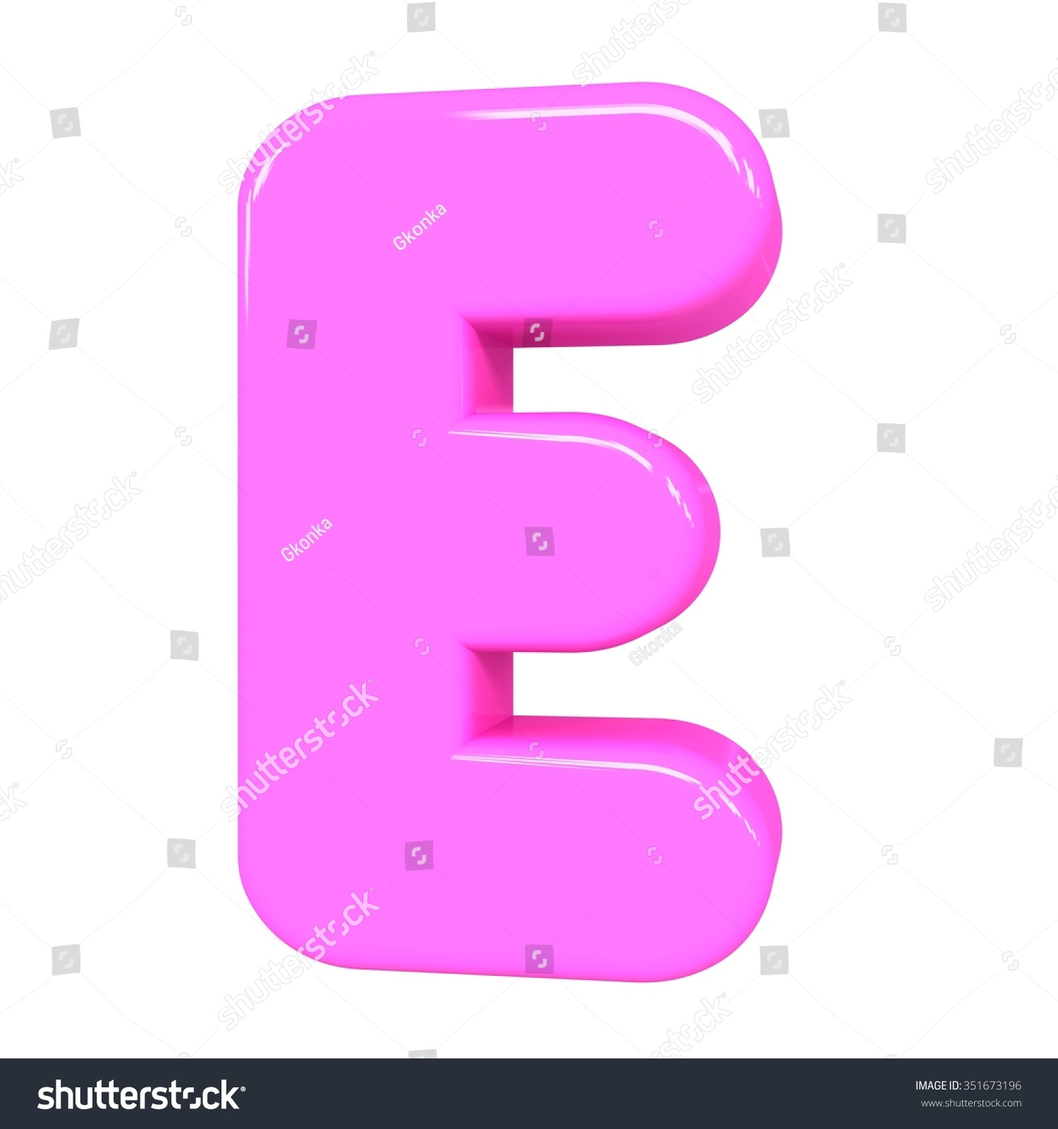 Royalty Free Stock Illustration of 3 D Cute Pink Letter E Cartoon ...
