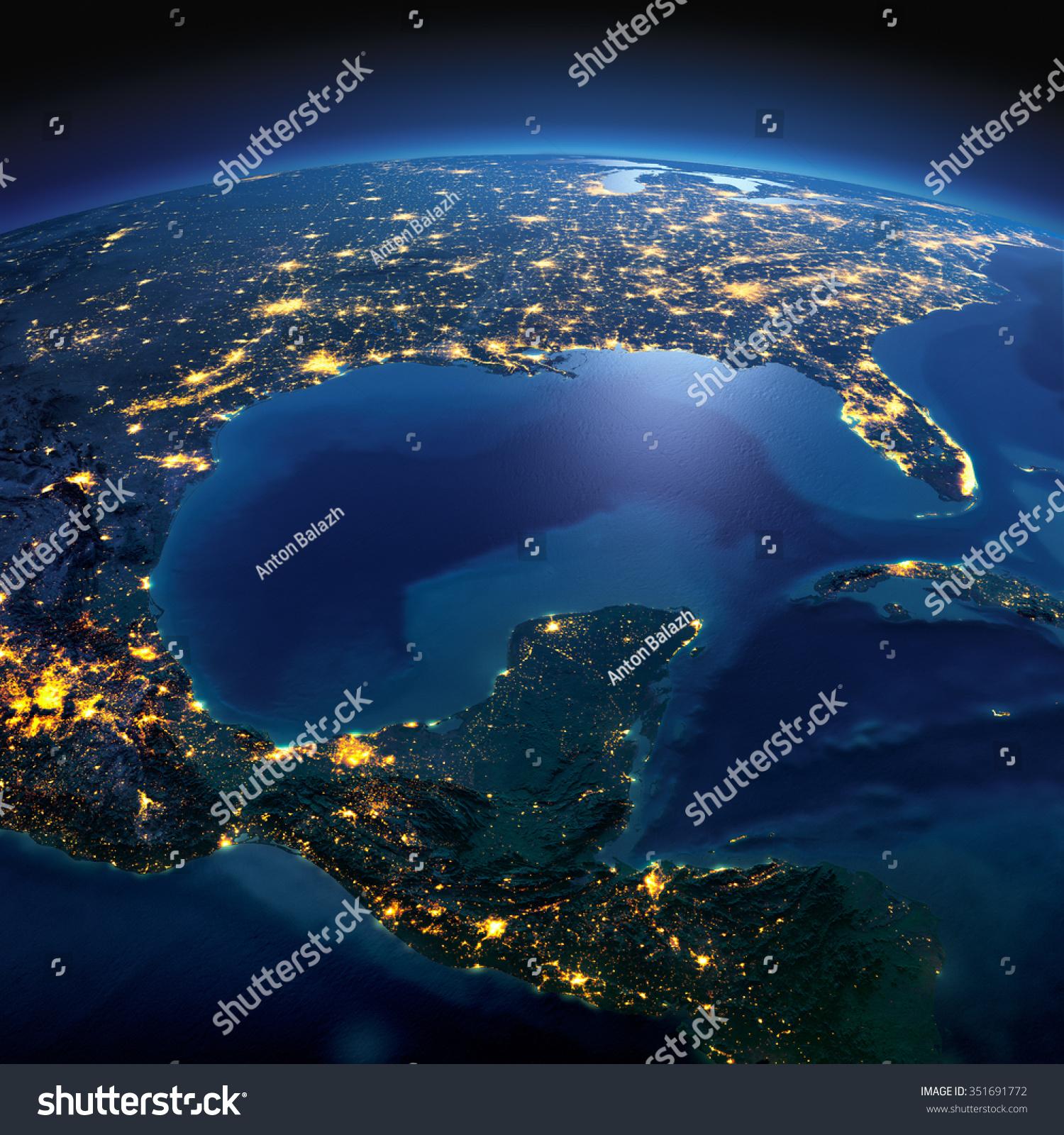 nasa night earth mexico - photo #31