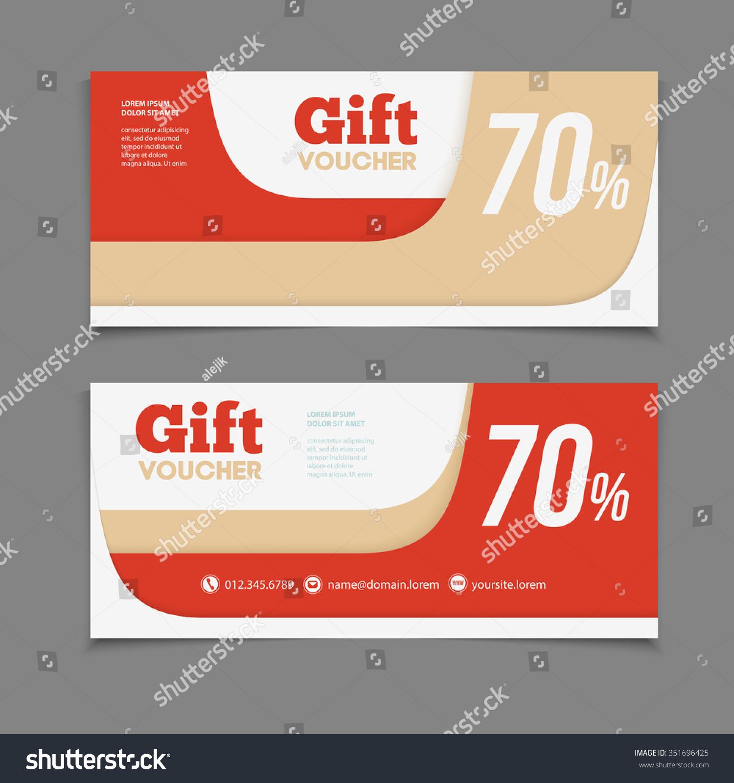 Two Coupon Voucher Design Gift Voucher Vector 351696425 – Discount Voucher Design