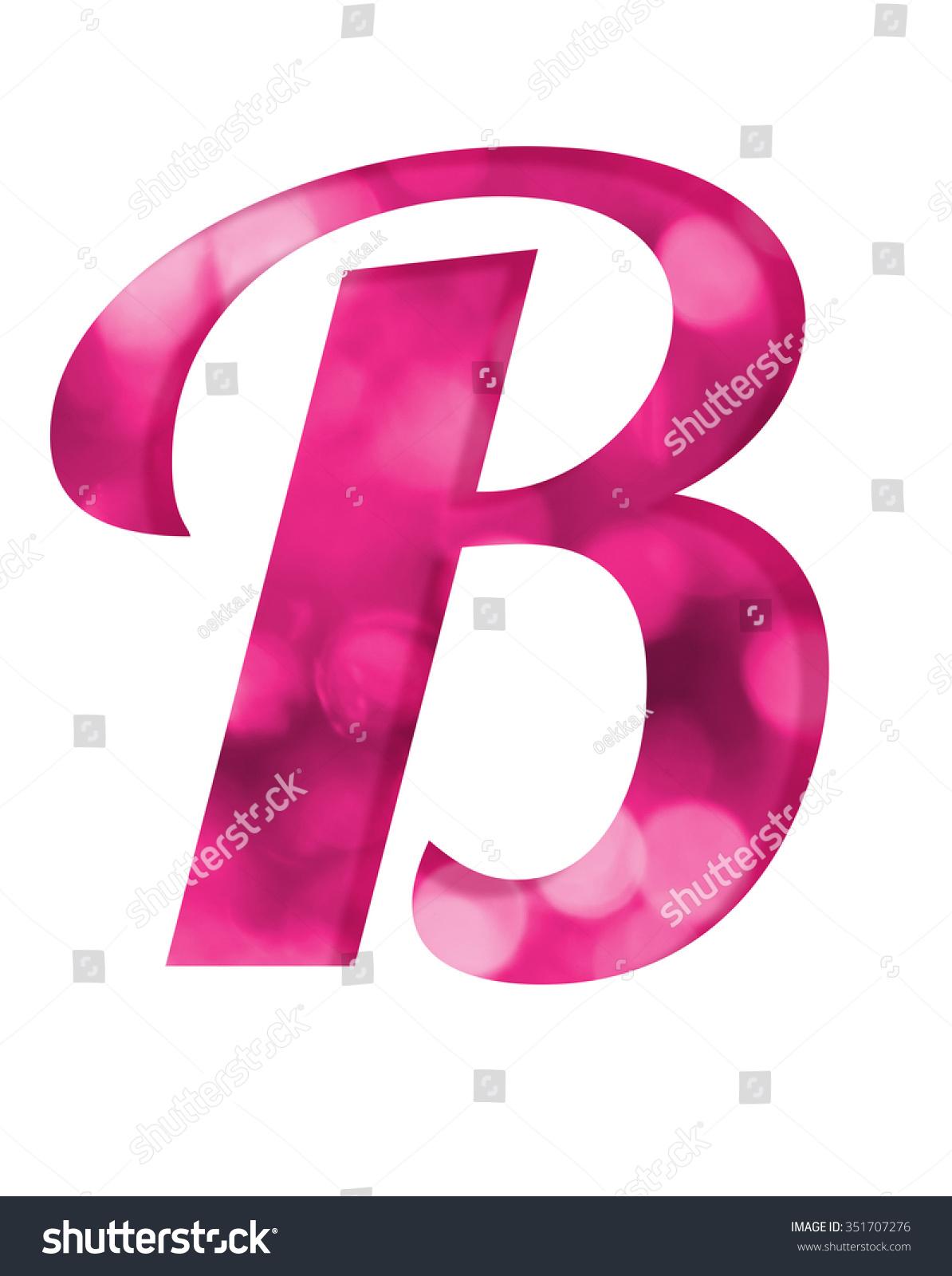 Letter B Pink Bokeh Alphabet Stock Illustration - Royalty Free Stock ...
