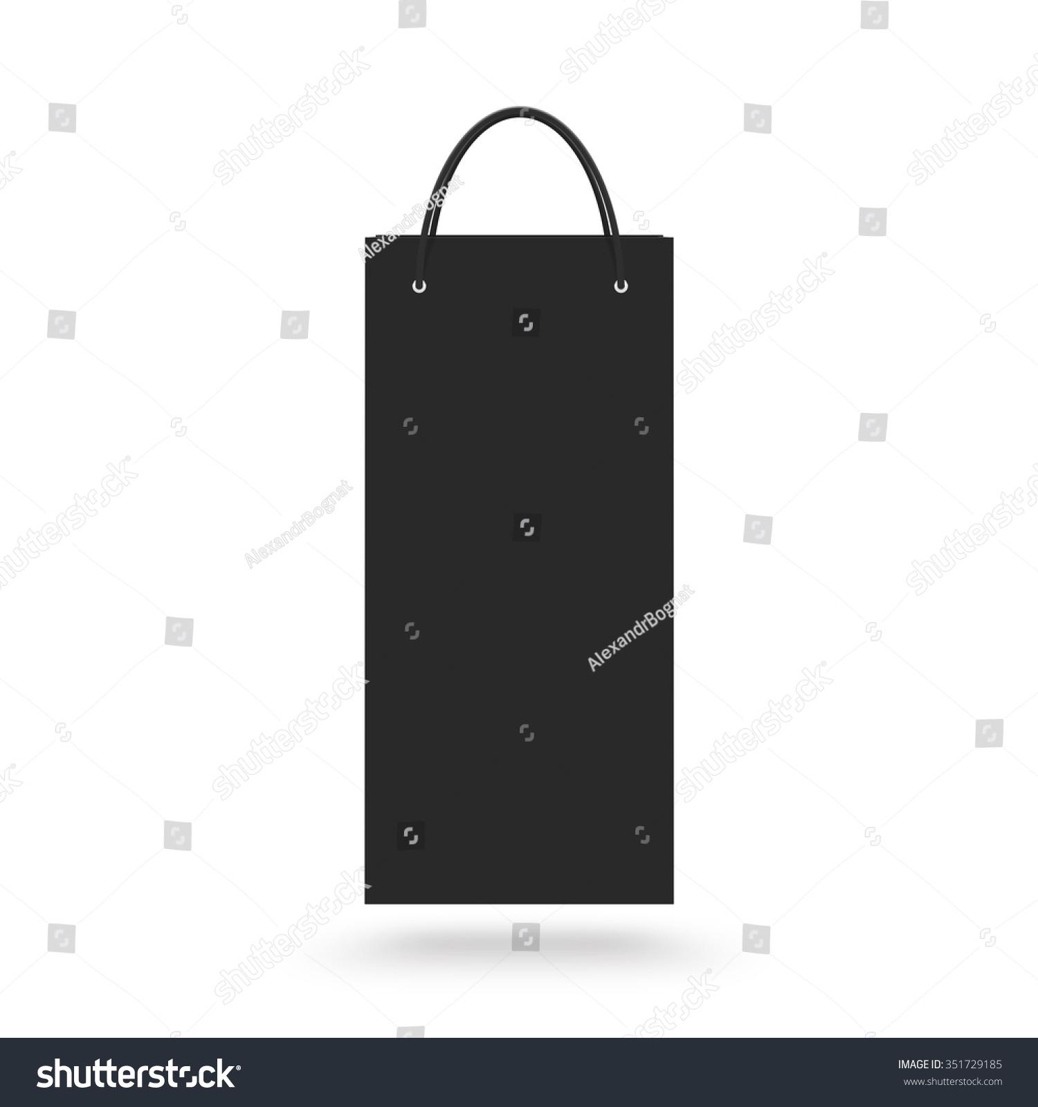 Blank Wine Paper Bag Mock Isolated Stock Illustration 351729185