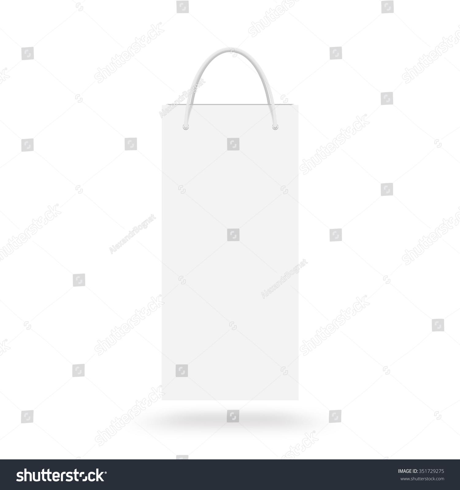 Blank Wine Paper Bag Mock Isolated Stock Illustration 351729275