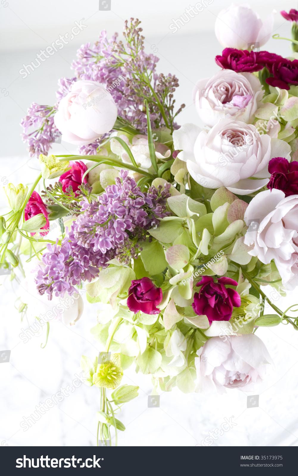 Beautiful Flower Arrangement Vase Stock Photo Edit Now 35173975