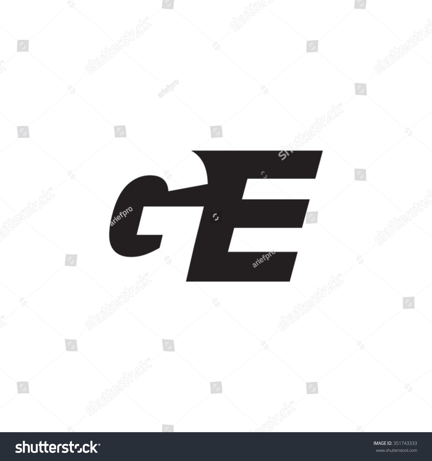 Ge negative space letter logo stock vector 351743333 shutterstock ge negative space letter logo biocorpaavc Gallery