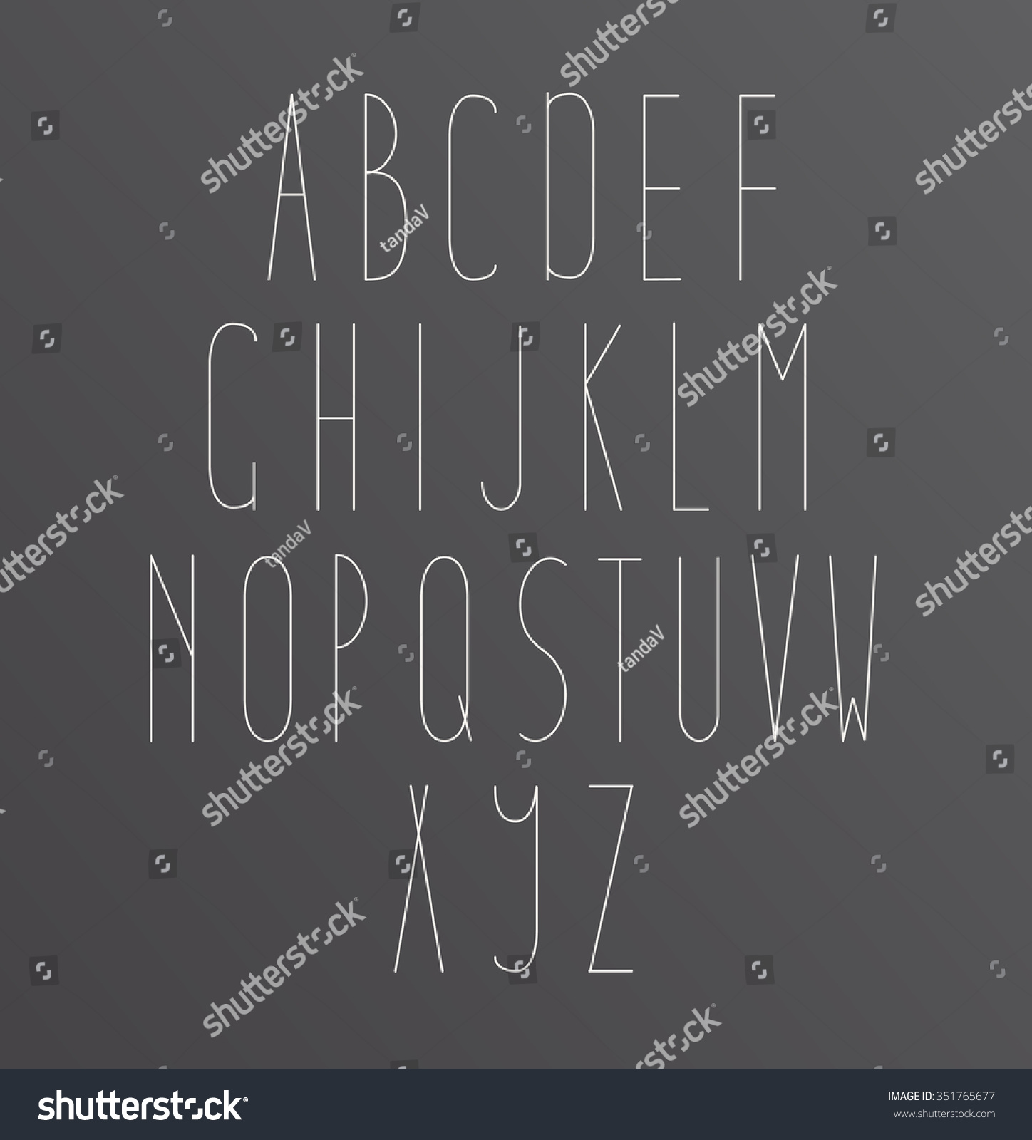 Minimal font symbol icon alphabet through stock vector 351765677 minimal font symbol icon alphabet a through z light font vector alphabet letters design biocorpaavc Image collections