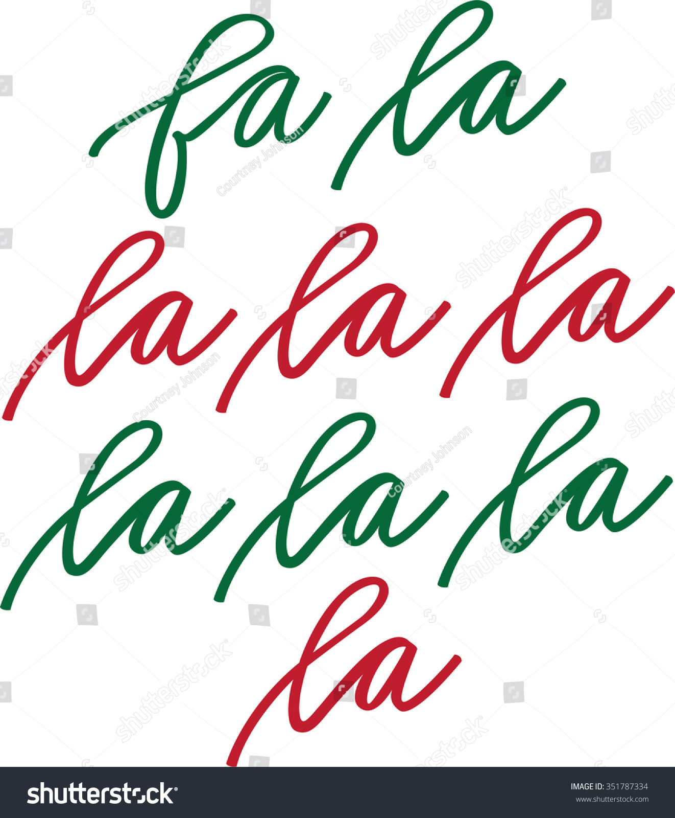 Fa La La La La Stock Vector 351787334 - Shutterstock