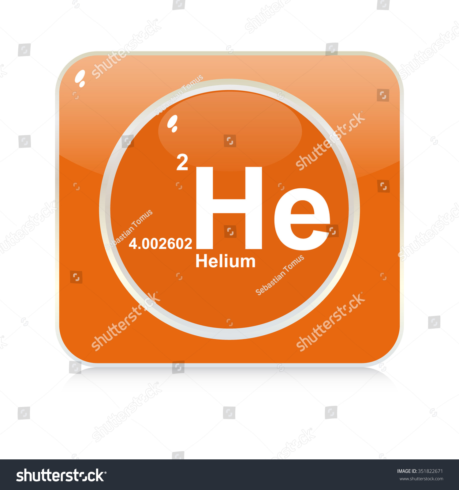 Helium chemical element button stock vector 351822671 shutterstock helium chemical element button buycottarizona