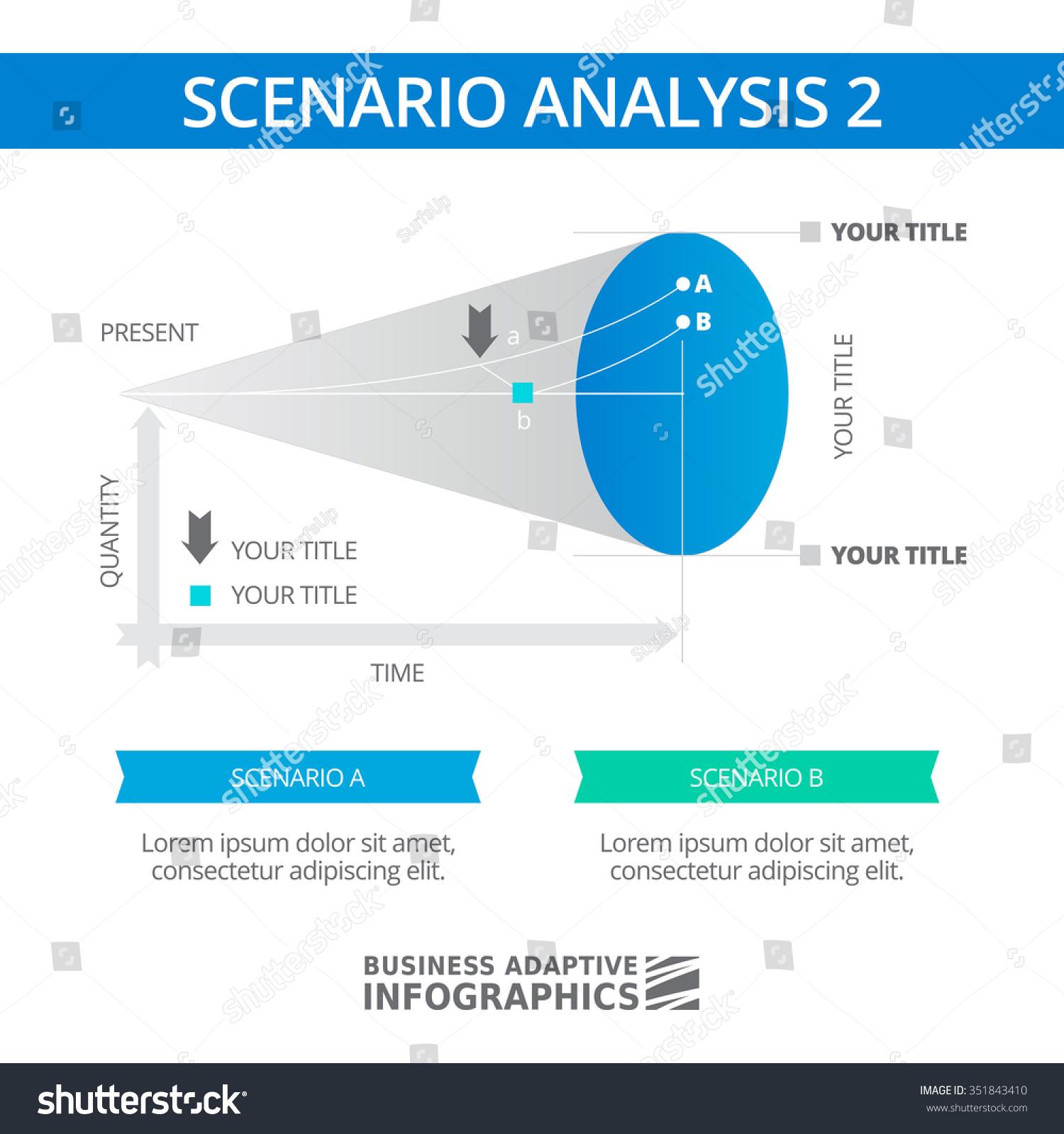Editable Infographic Template Scenario Analysis Diagram Stock Vector ...