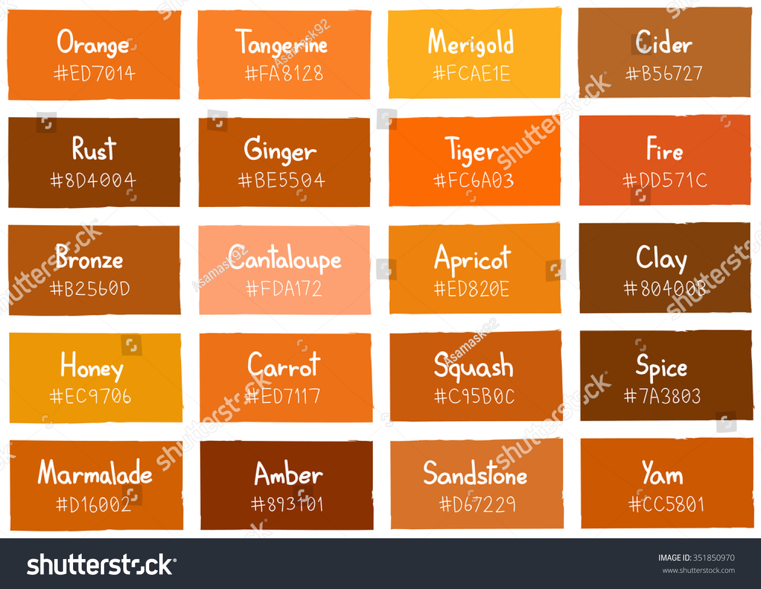 Orange Paint Color Chart Pictures To Pin On Pinterest