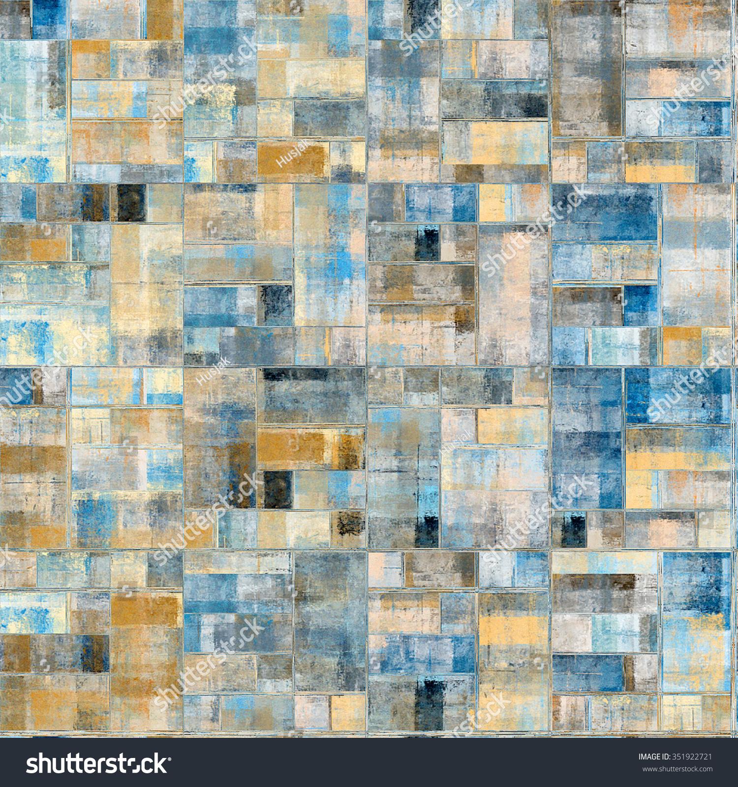 Abstract Painting Wall Tiles Mosaic Ceramic Stock Illustration ...