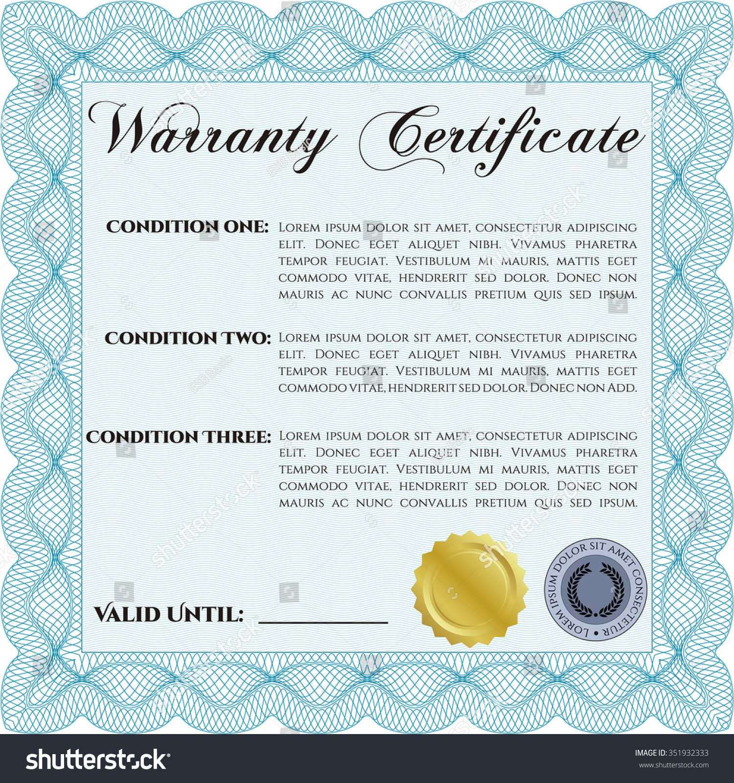 Download lifetime warranty certificate template microsoft office sample warranty certificate template very detailed stock vector stock vector sample warranty certificate template very detailed with sample text with xflitez Gallery