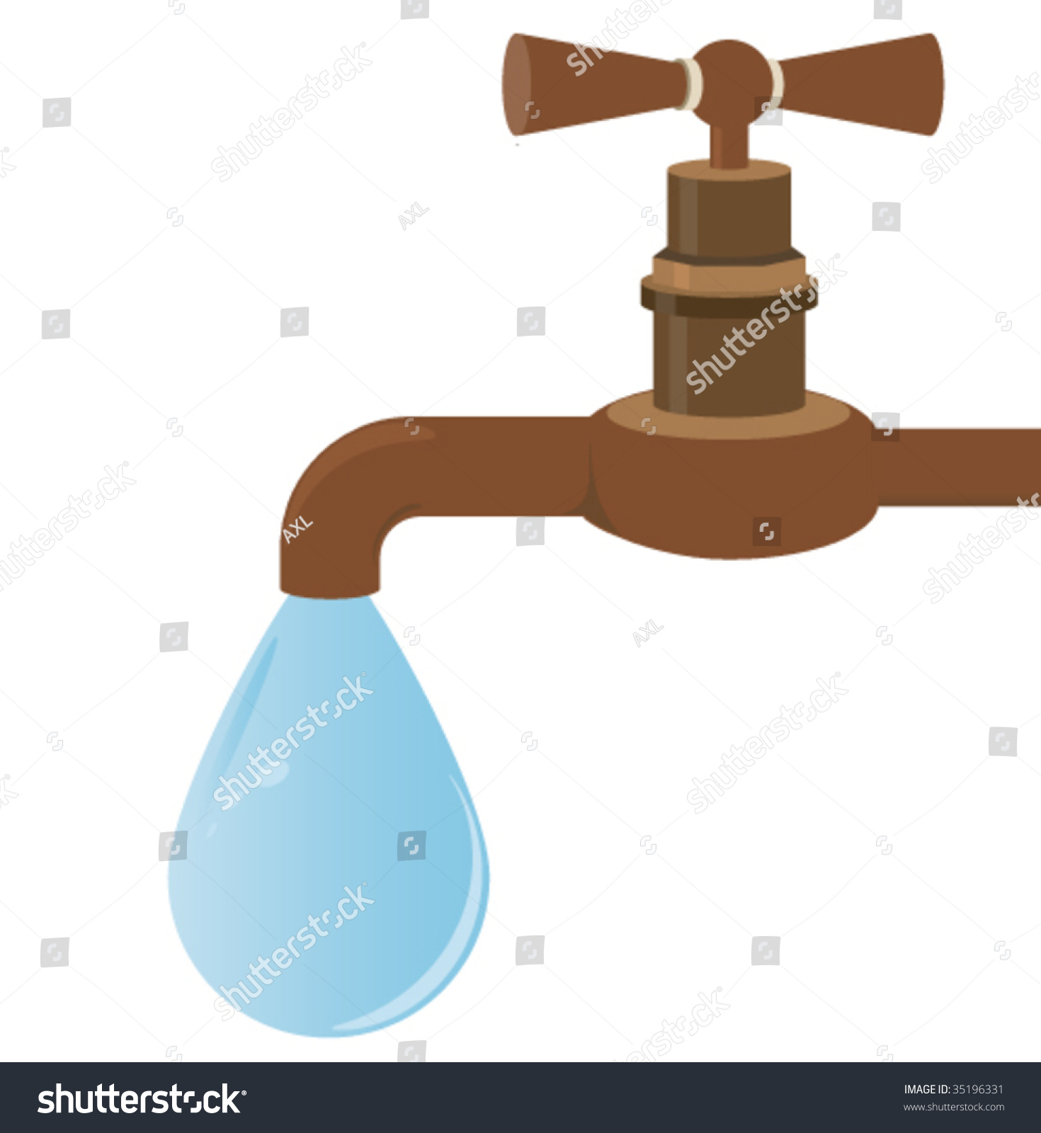 Rusty Faucet Water Drop Stock Photo (Photo, Vector, Illustration ...