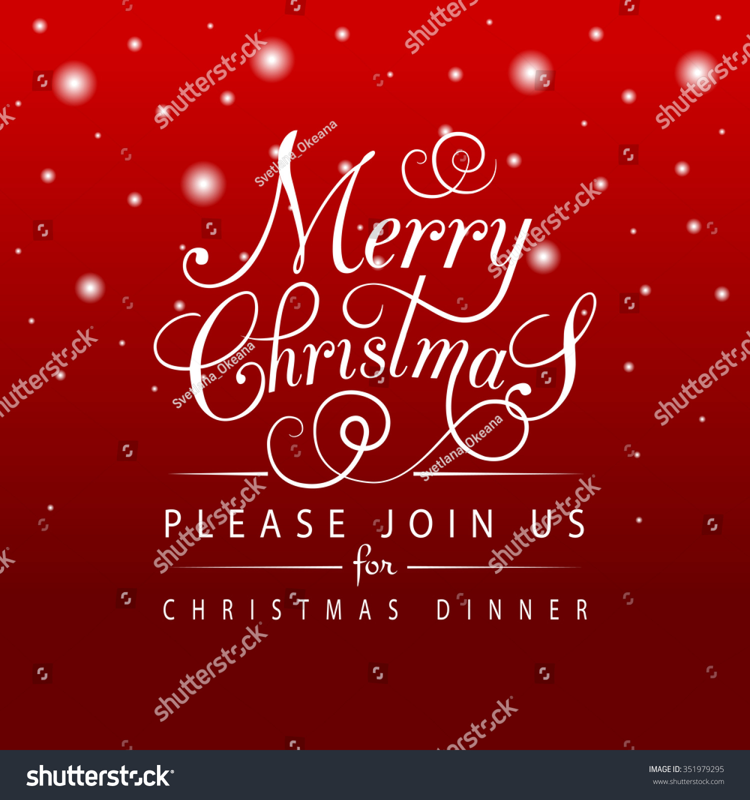 Merry Christmas Happy Holidays Greeting Card Stock Vector 351979295