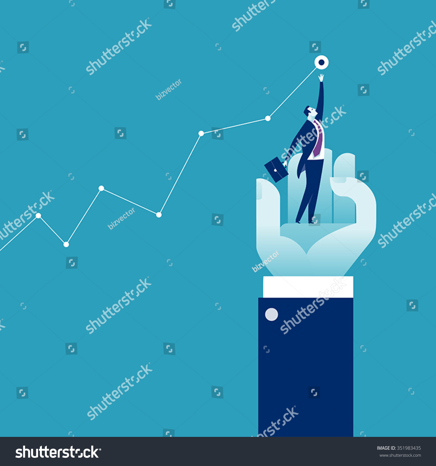 Helping Hand. Concept Business Illustration. - 351983435 ...