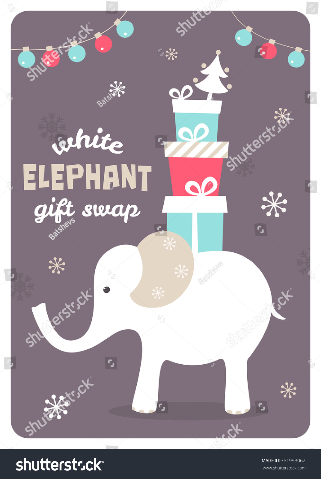White elephant gift exchange illustration stock vector 351993062 white elephant gift exchange illustration negle Gallery