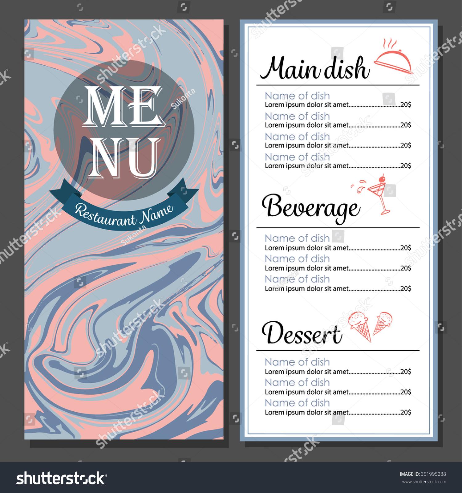 menu design modern food drink restaurant stock vector (royalty free