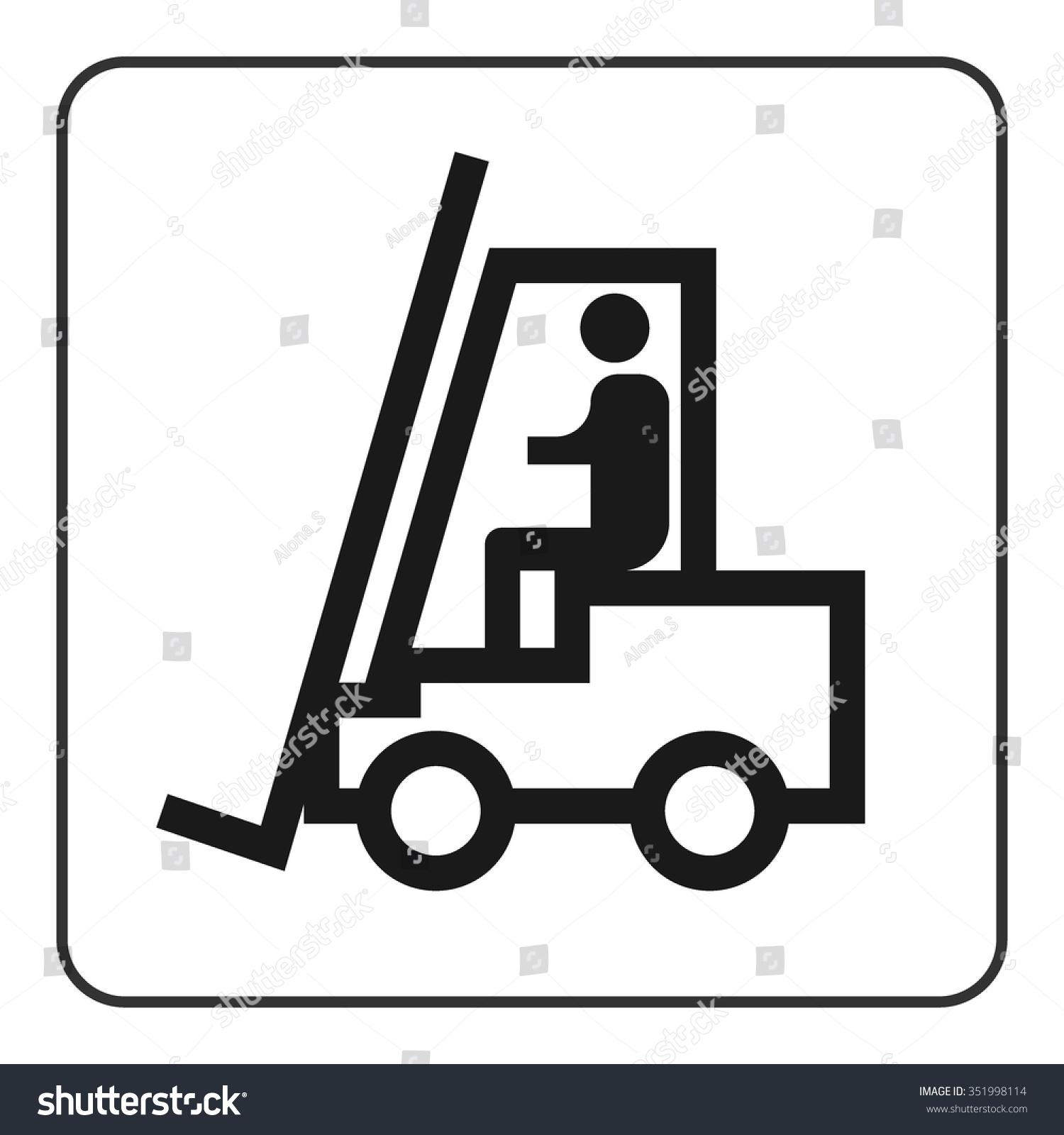 forklift truck sign black lifttruck icon stock vector. Black Bedroom Furniture Sets. Home Design Ideas