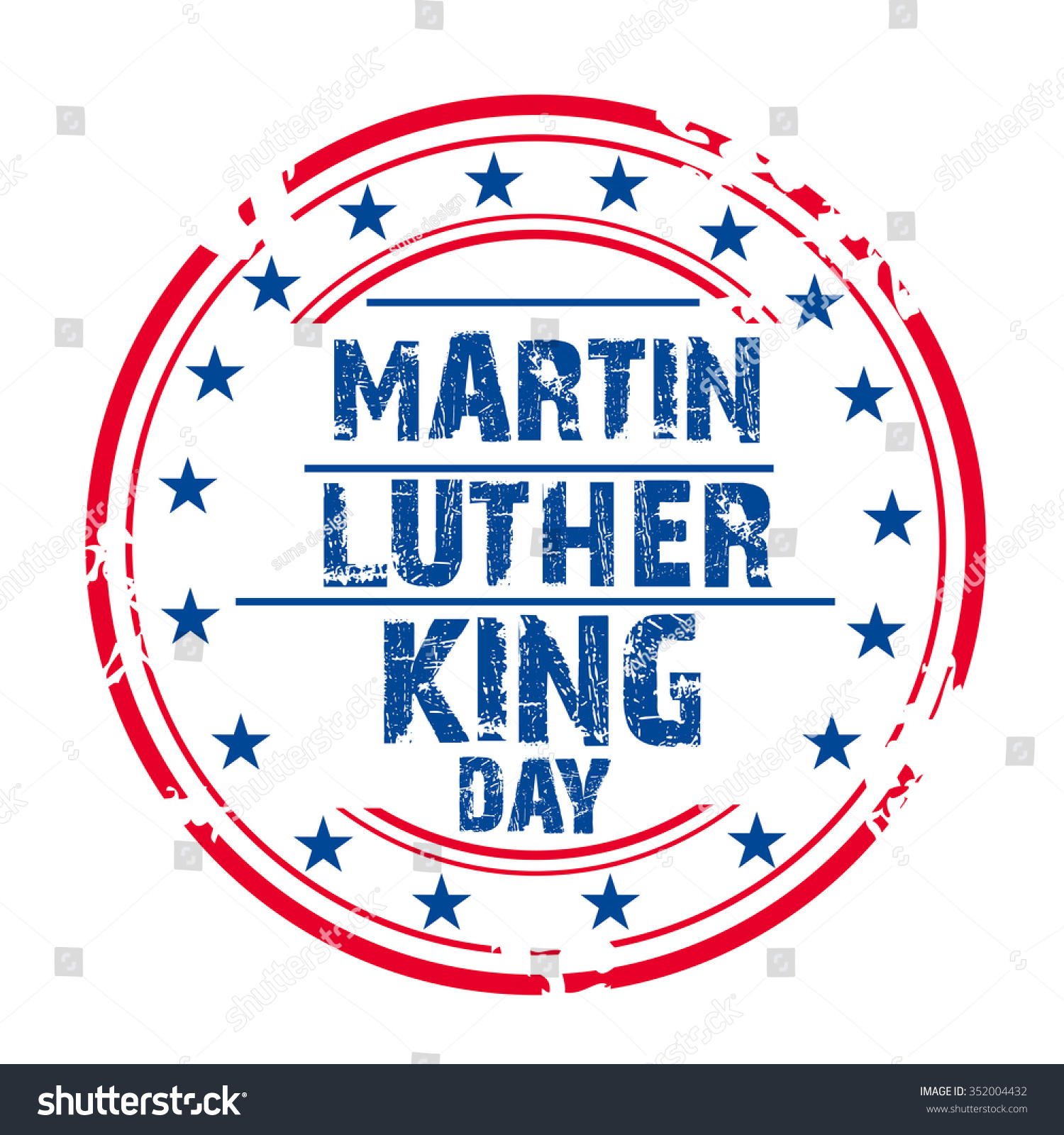 Vector Illustration Grungy Stamp Martin Luther Stock Vector Royalty