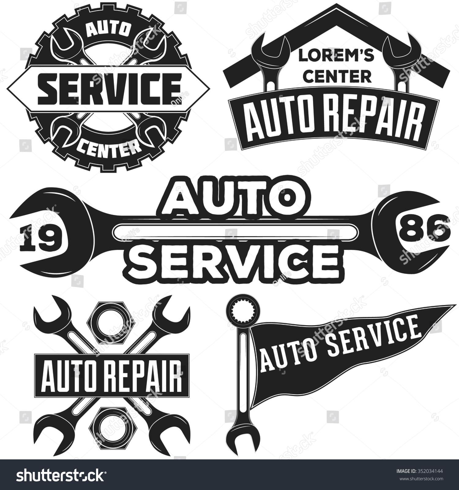 Royalty Free Vintage Mechanic Auto Service Repair 352034144 Stock