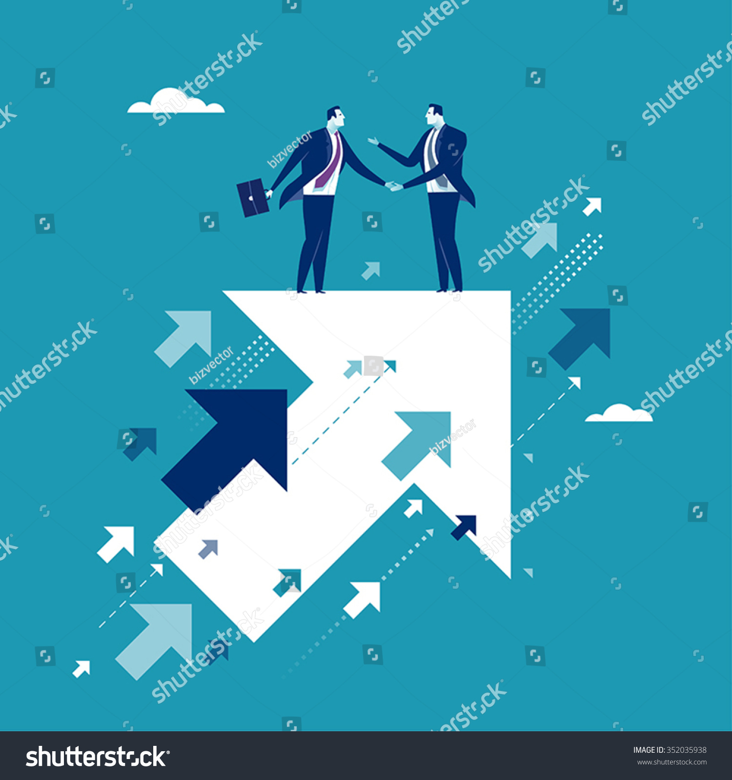 Agreement Business Illustration Stock Vector 352035938 ...