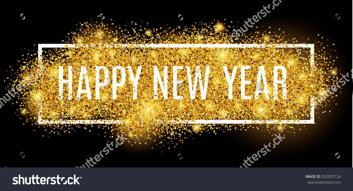 happy new year gold glitter 2017 golden background for flyer poster sign