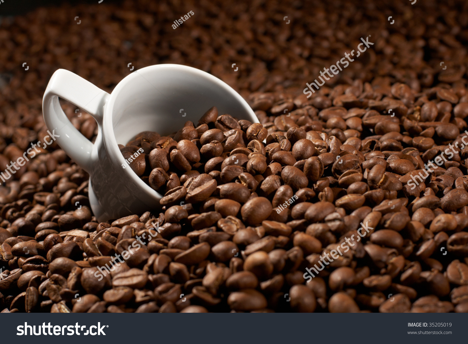 cup in a grain of coffee stock photo 35205019 shutterstock. Black Bedroom Furniture Sets. Home Design Ideas