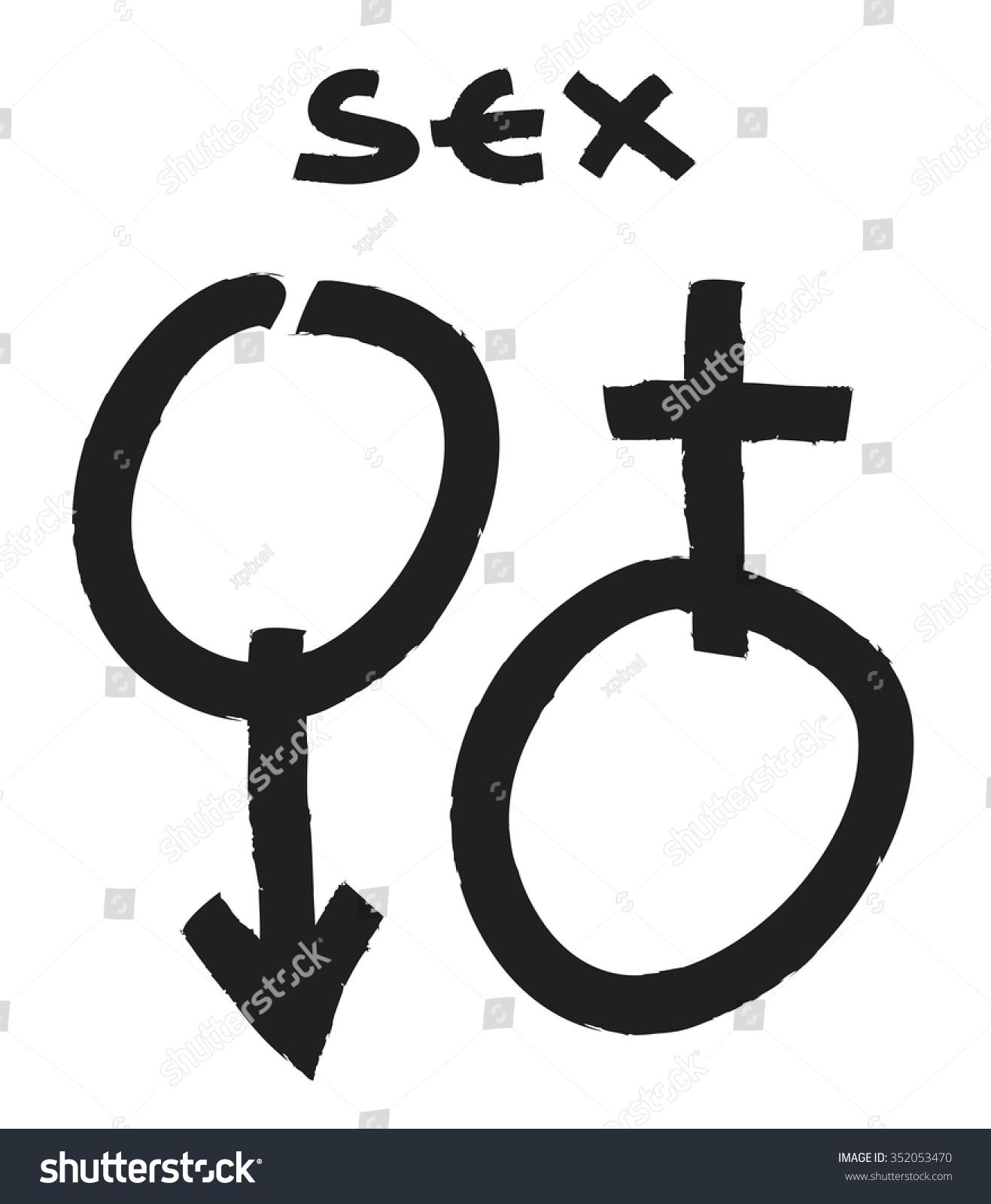 Male female symbols stock vector 352053470 shutterstock male and female symbols buycottarizona