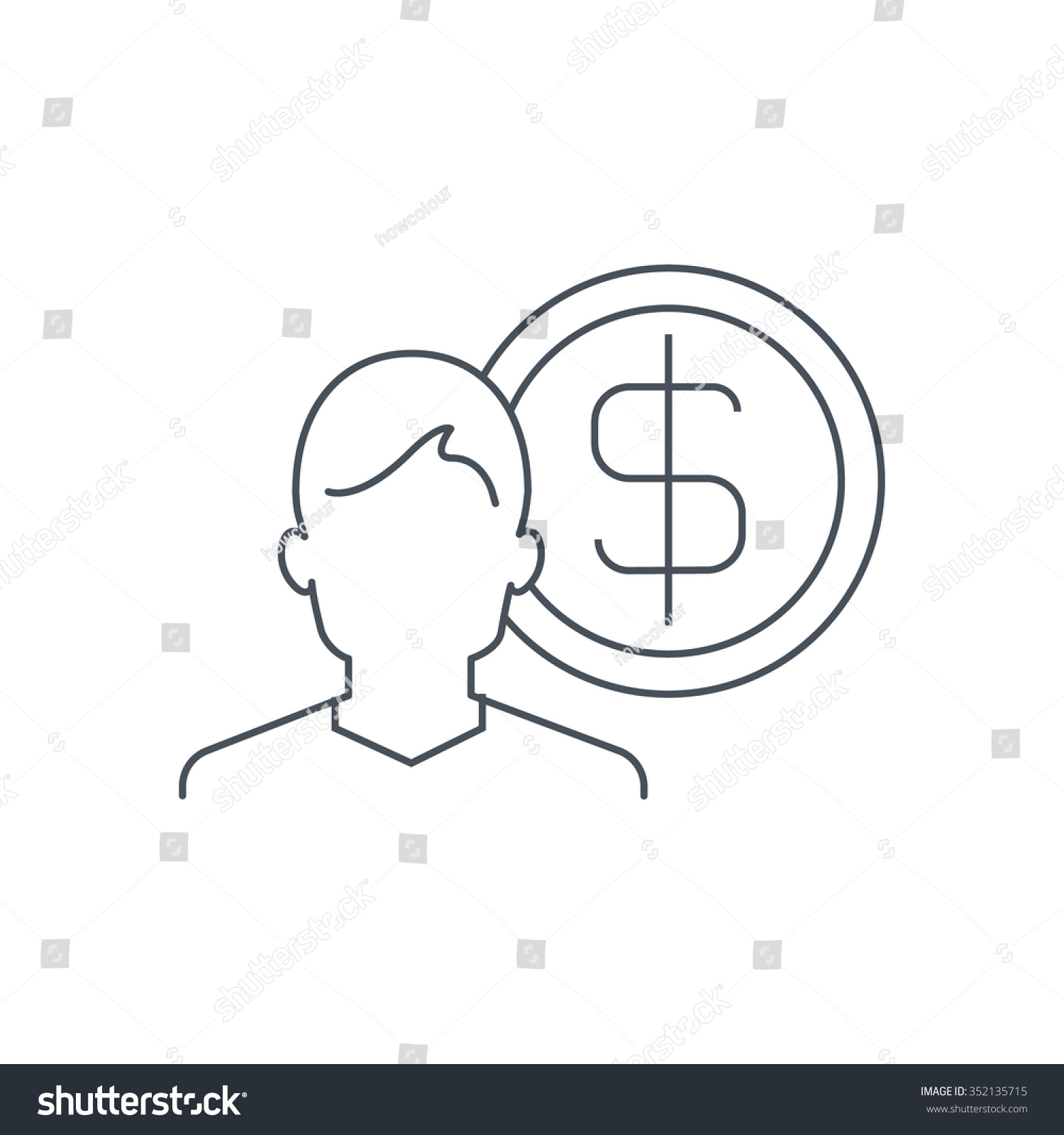 wealth salary icon suitable for info graphics websites and print save to a lightbox