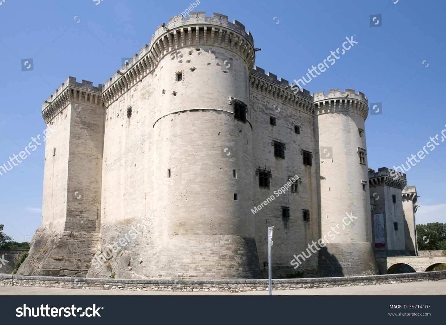 Tarascon Castle, France. The construction of the current castle of Tarascon was started in 1401 by Louis II of Anjou.