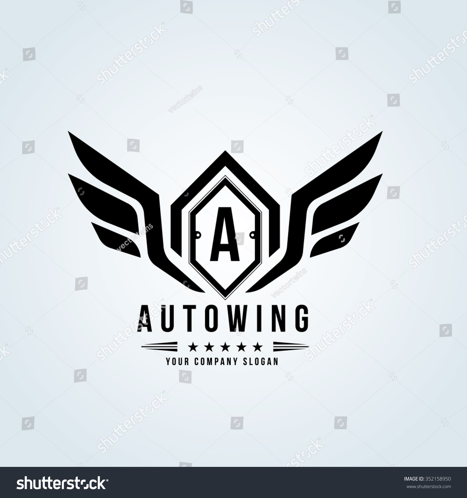 auto wingautomotive logocrests logovector logo template stock vector 352158950 shutterstock. Black Bedroom Furniture Sets. Home Design Ideas