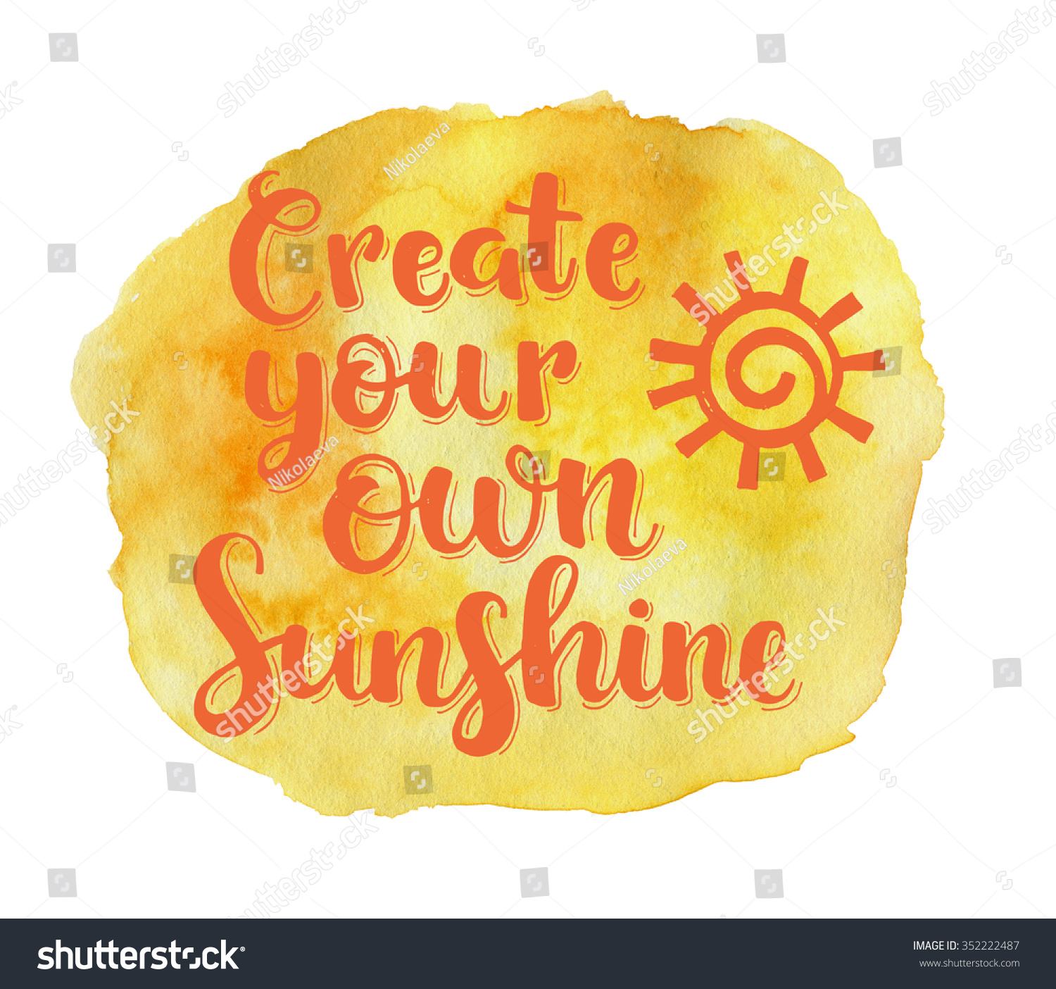 Create Your Own Sunshine Hand Drawn Stock Illustration 352222487