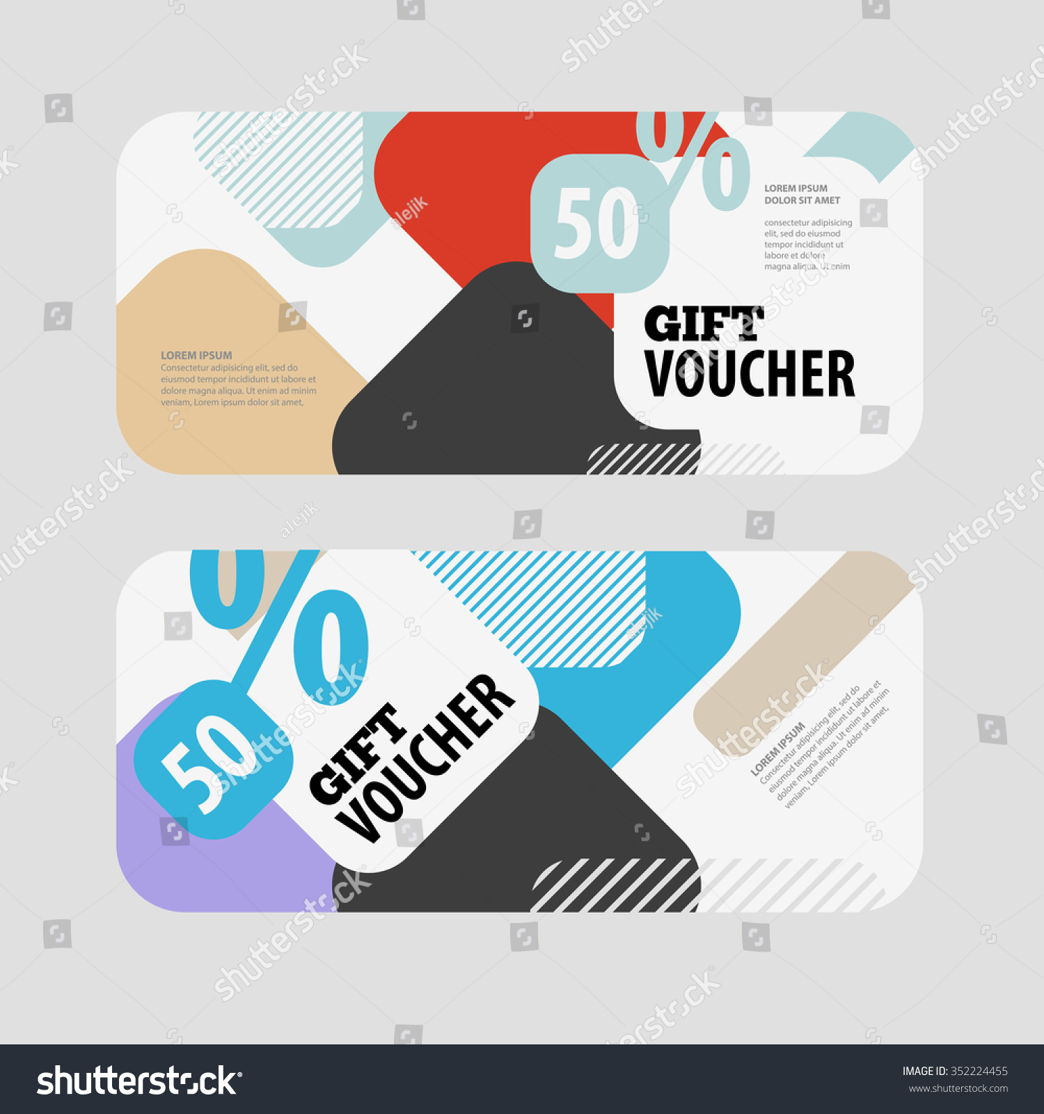 Abstract Gift Voucher Coupon Design Template Vector – Template for a Voucher