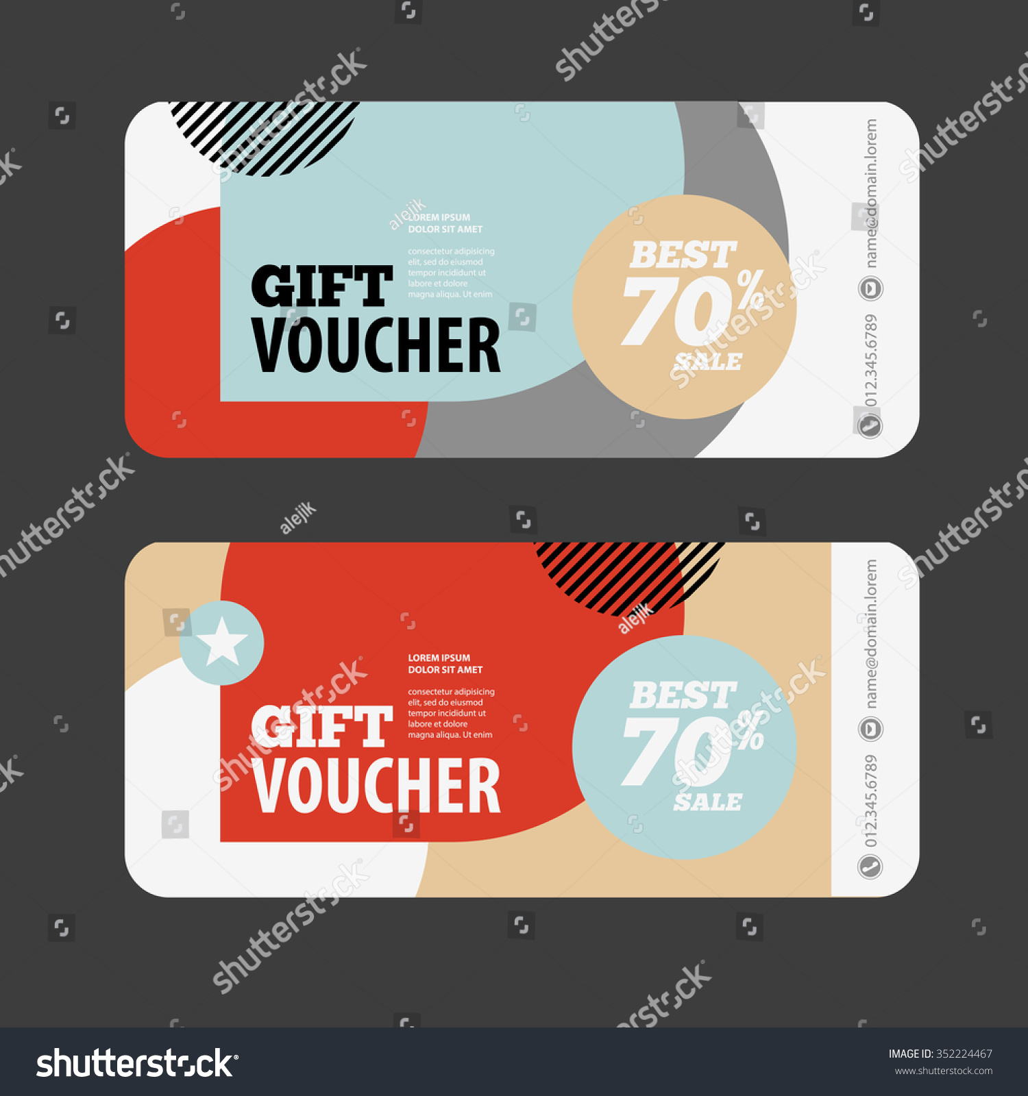 abstract gift voucher coupon design template stock vector abstract gift voucher or coupon design template voucher design blank print design