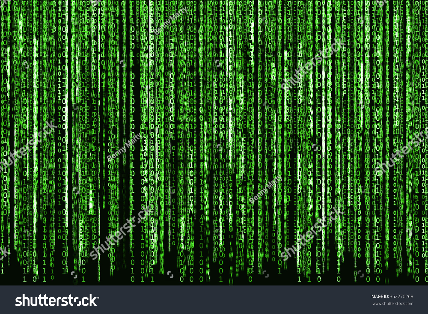 Royalty Free Stock Illustration Of Big Green Binary Code Matrix Or Photo Circuit Board Skinned Human Close Up And As Background Computer With Characters Shining
