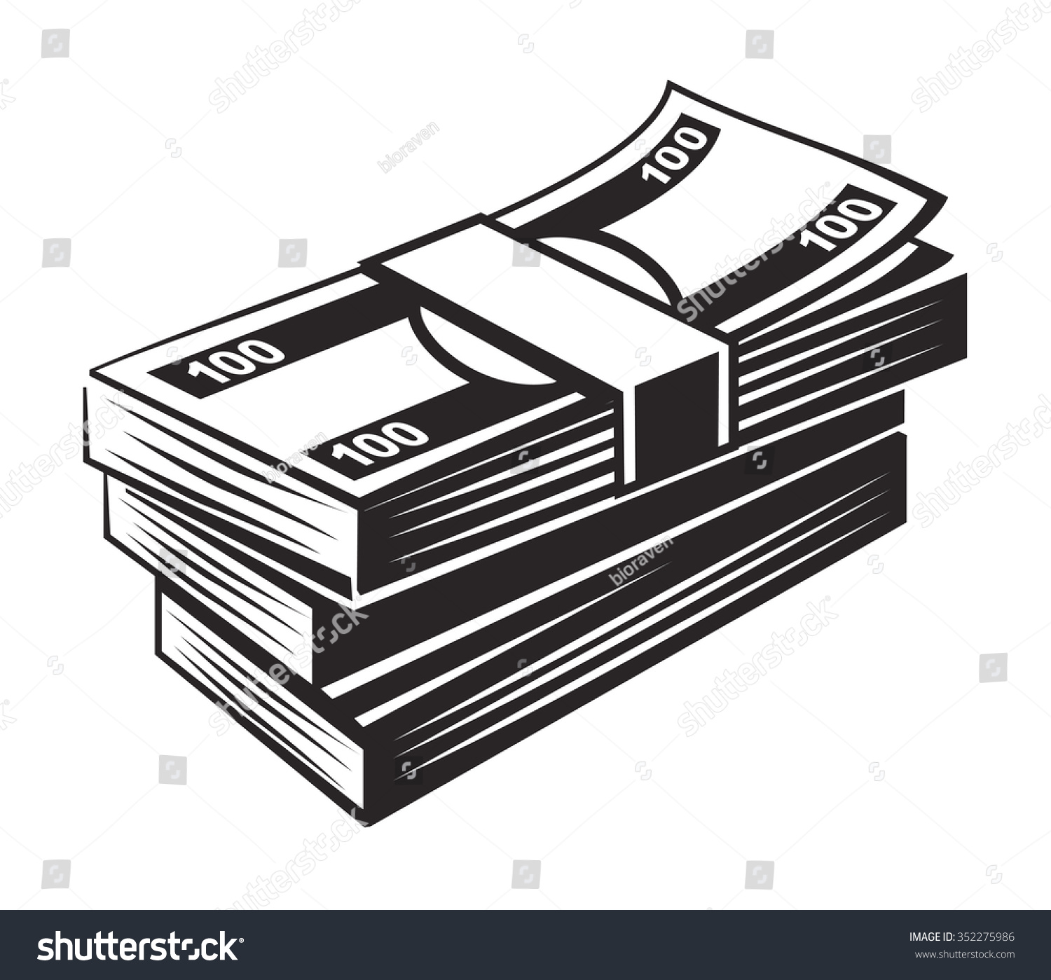 vector black money icon on white background 352275986