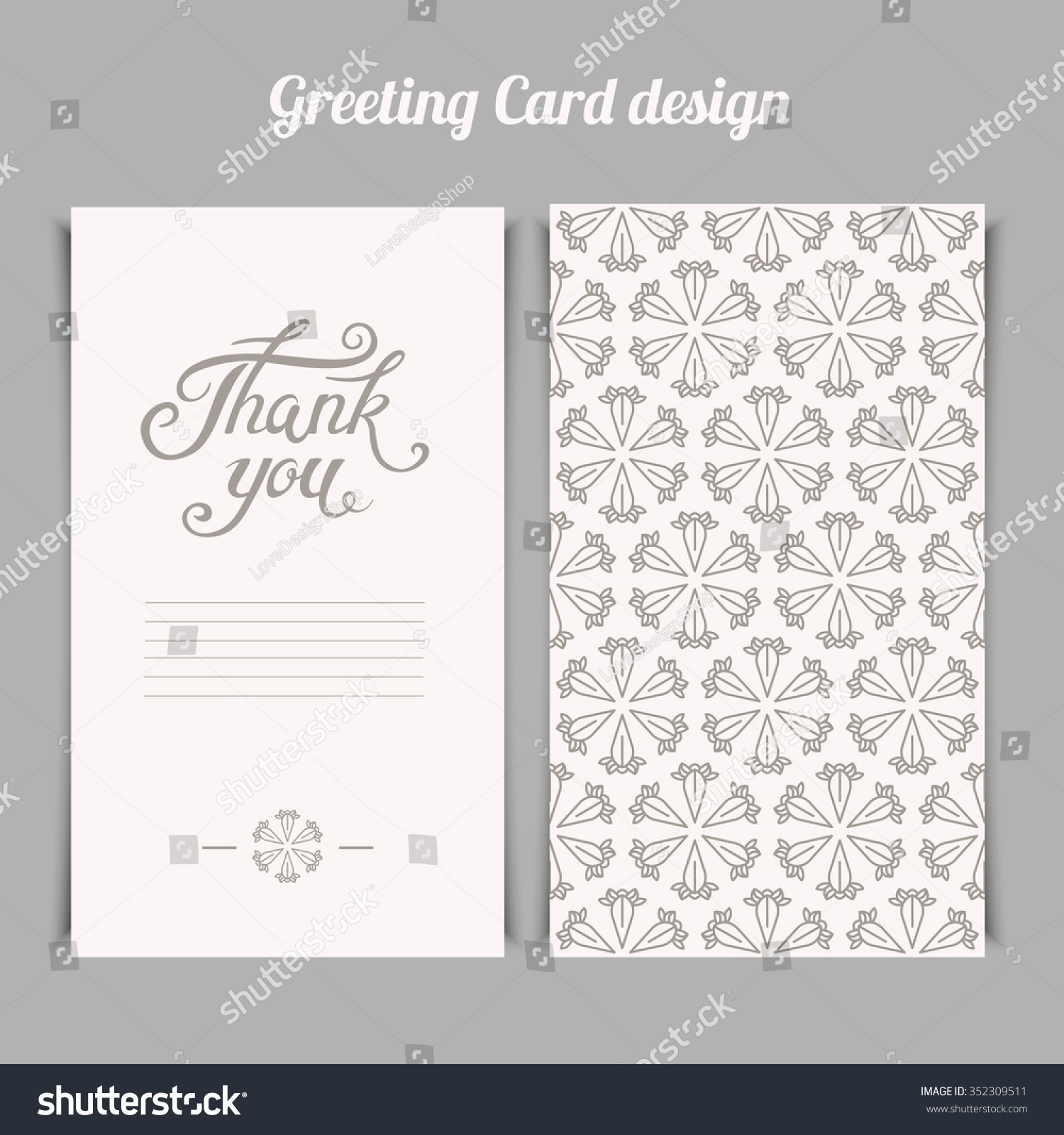 Elegant thank you card template silver stock vector hd royalty free elegant thank you card template with silver floral pattern vector greeting card design spiritdancerdesigns Choice Image