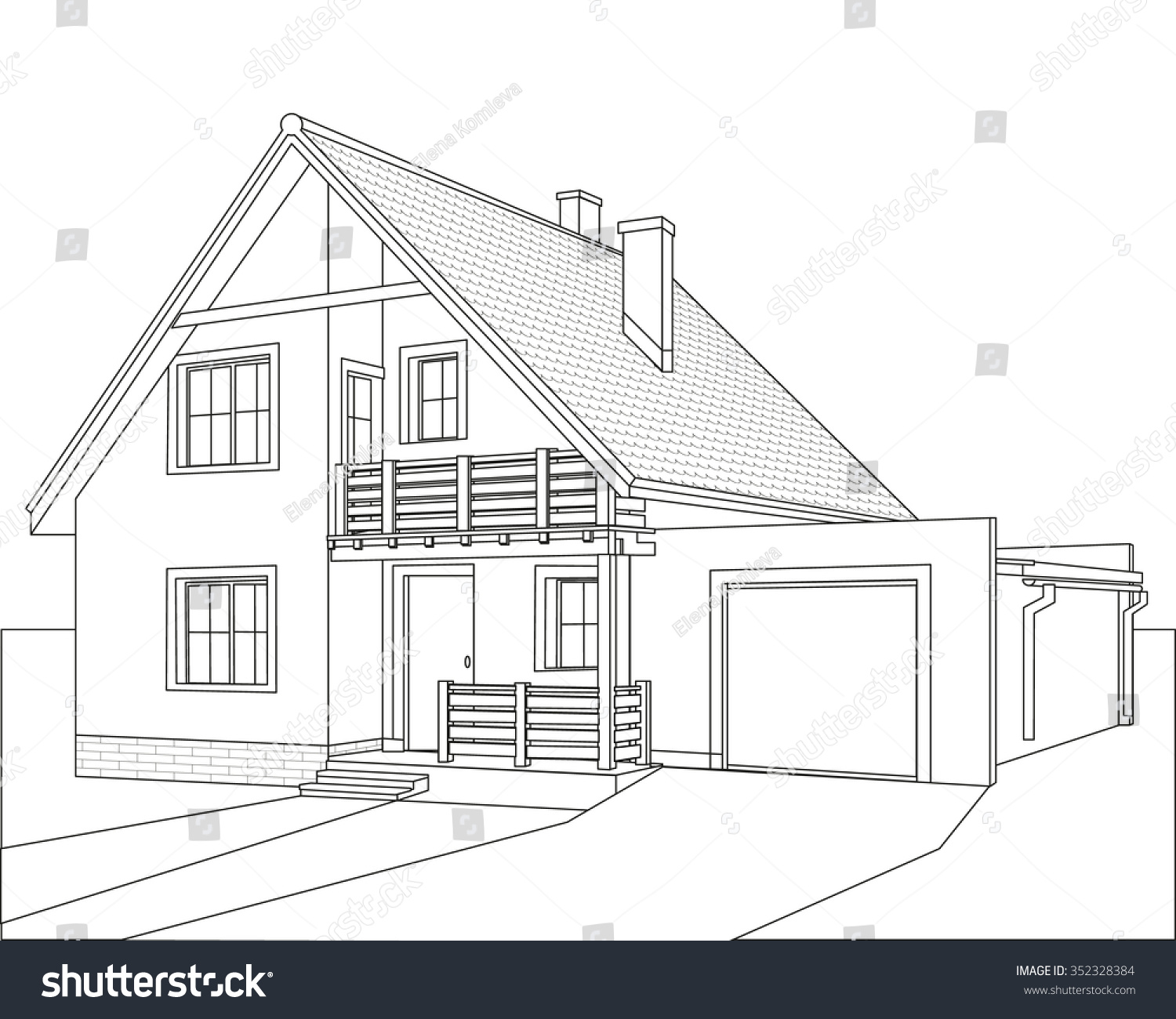 Drawing of a house for Draw your house