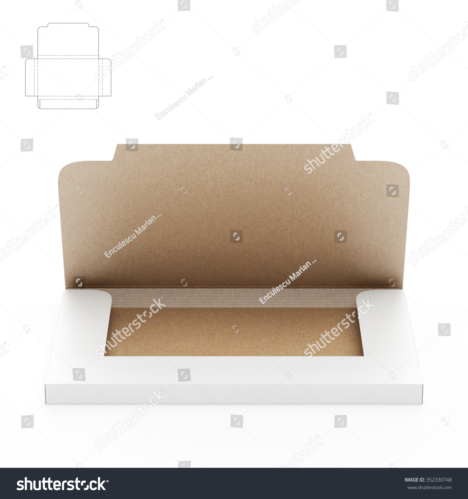 Small Compact Business Cards Sleeve Box Stock Illustration 352330748 ...
