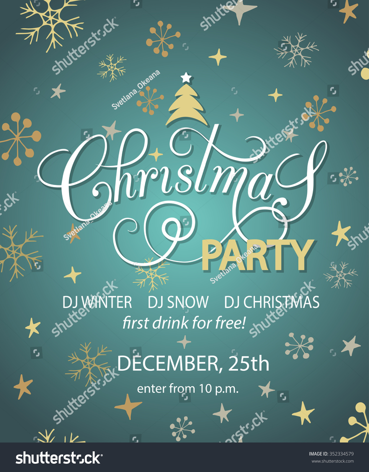 christmas party background design template christmas stock vector christmas party background design template christmas party banner flyer lettering for christmas party