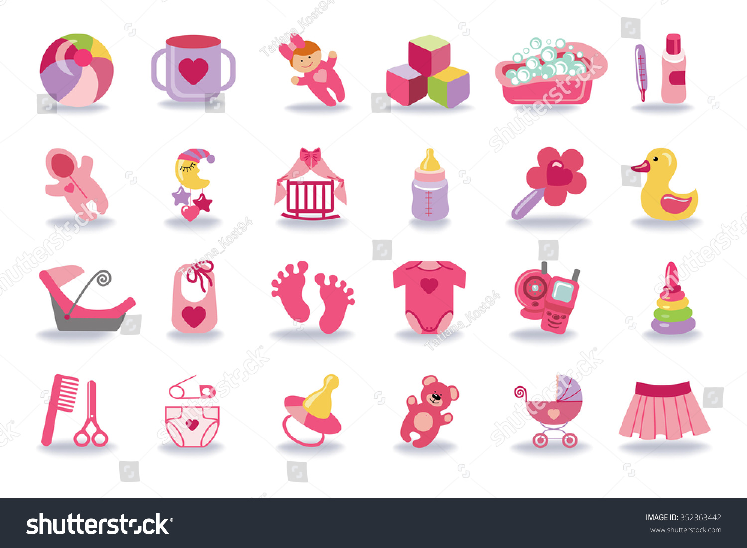 the gallery for gt baby girl symbols